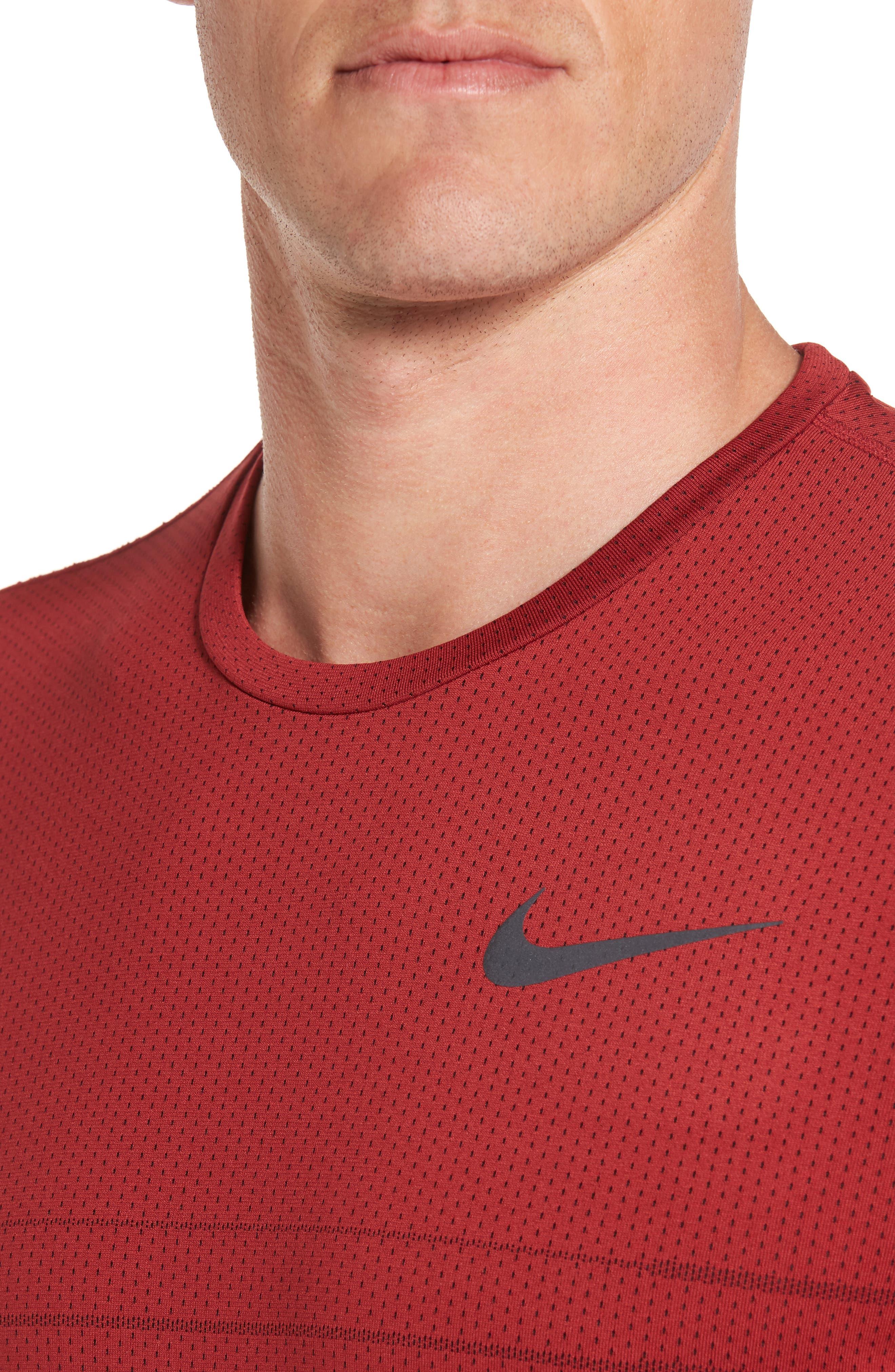 Alternate Image 4  - Nike Mesh Running T-Shirt