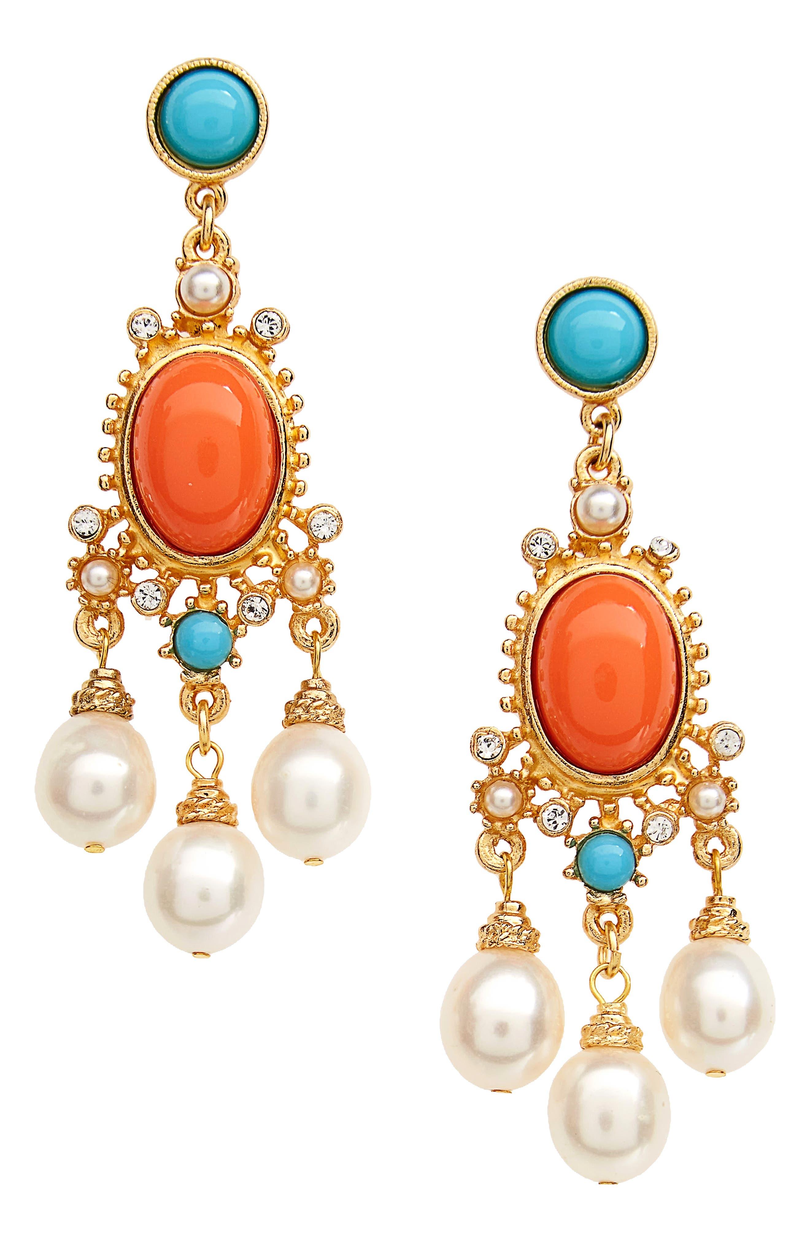 Ben-Amun Adriatic Sea Drop Earrings