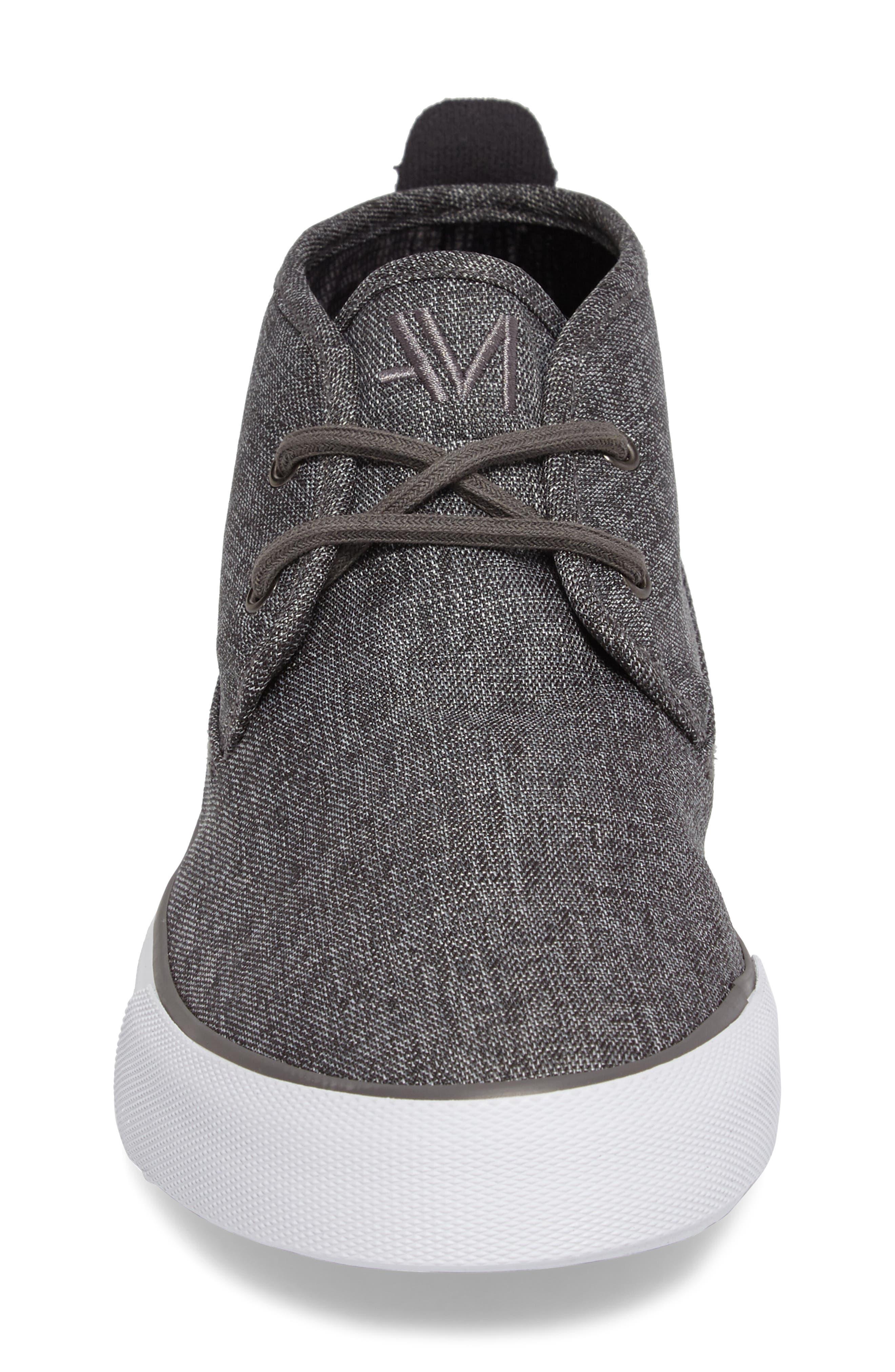 Reade Chukka Sneaker,                             Alternate thumbnail 4, color,                             Charcoal/Dk Charcoal/White