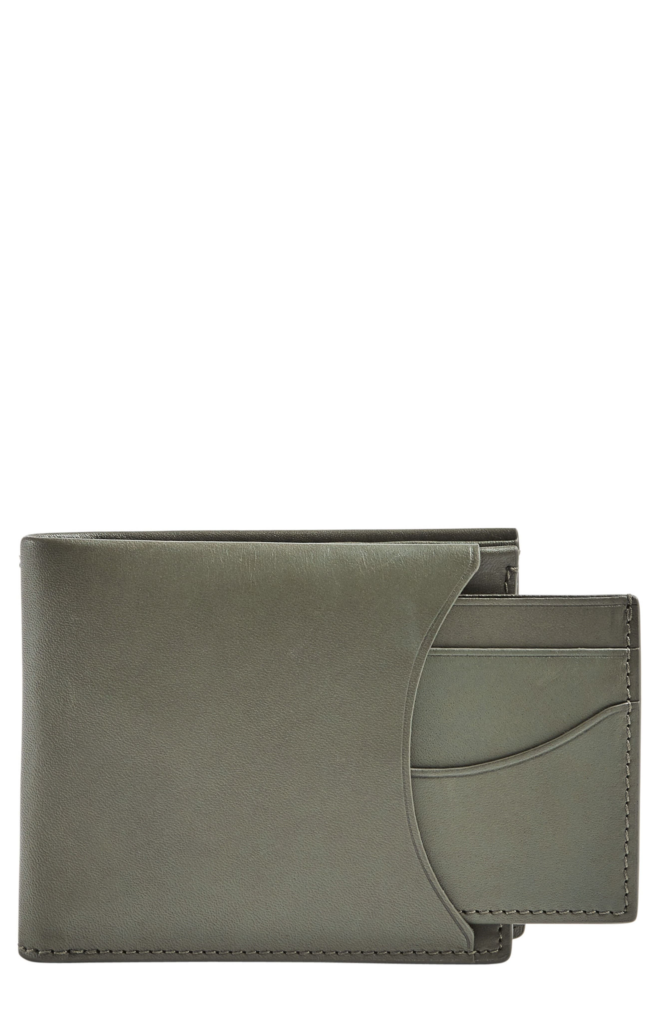 Leather Passcase Wallet,                         Main,                         color, Agave