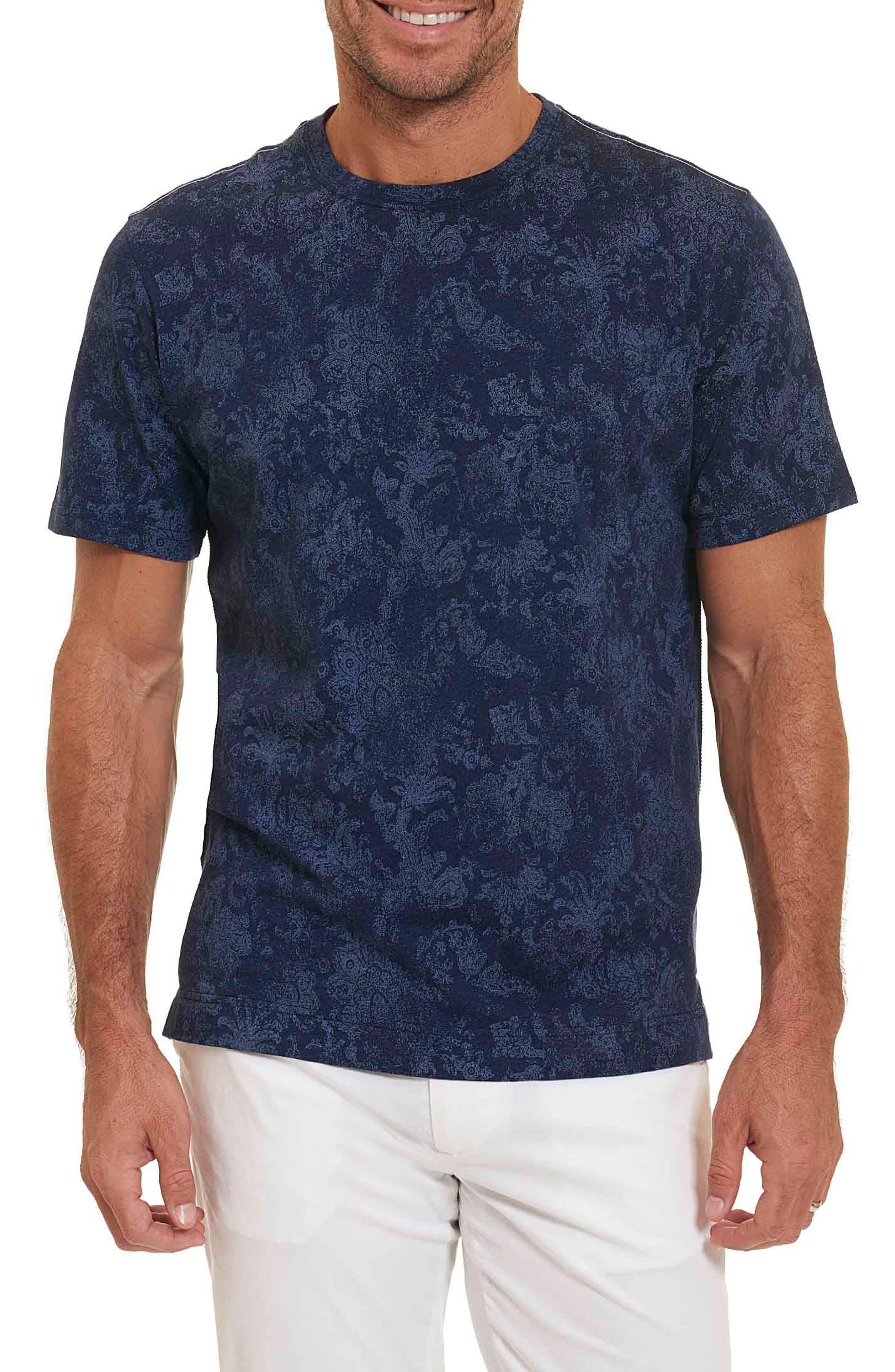 Rosemead Print T-Shirt,                         Main,                         color, Heather Denim