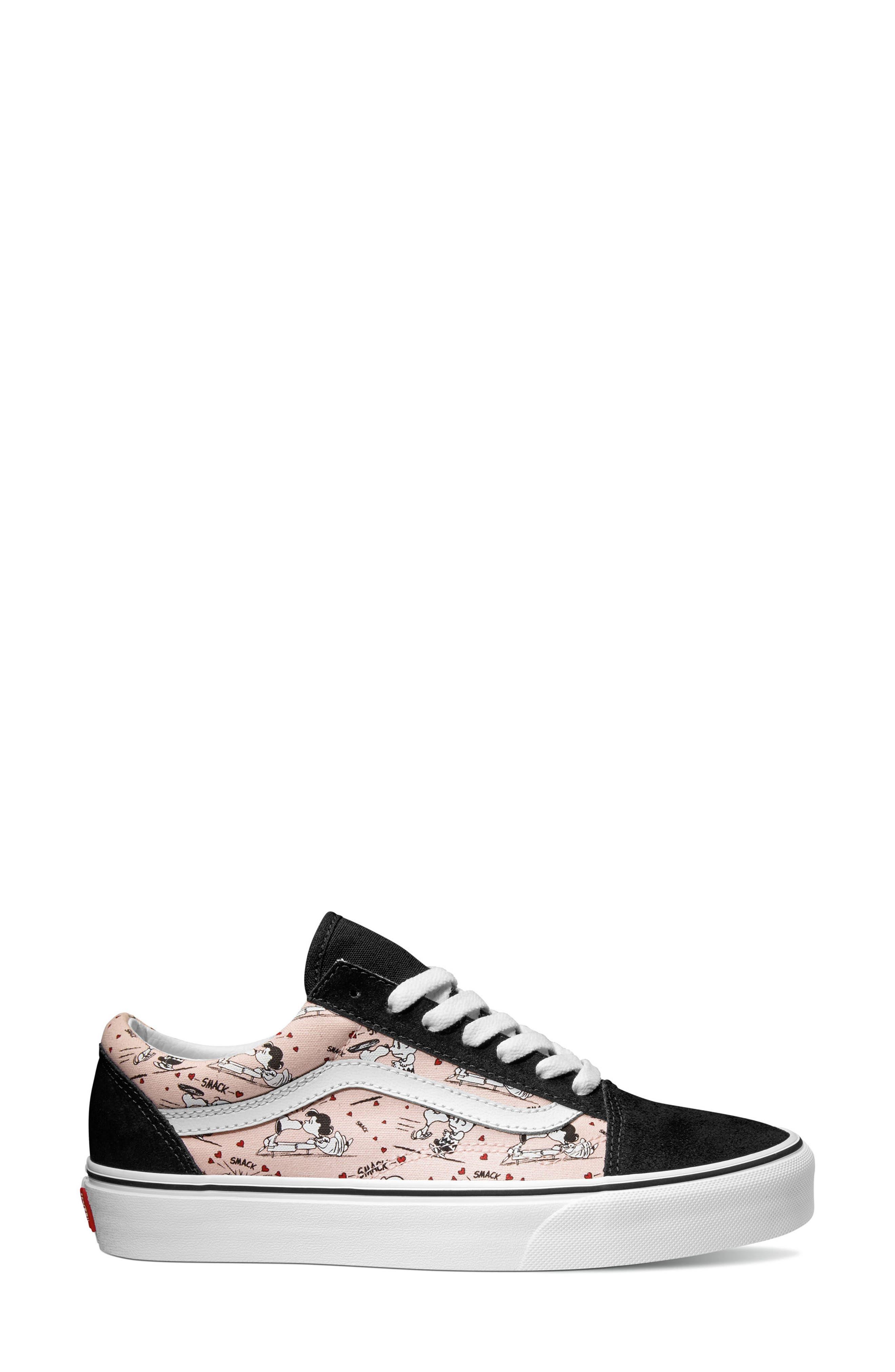 Alternate Image 1 Selected - Vans x Peanuts Old Skool Snoopy Kisses Sneaker (Women)