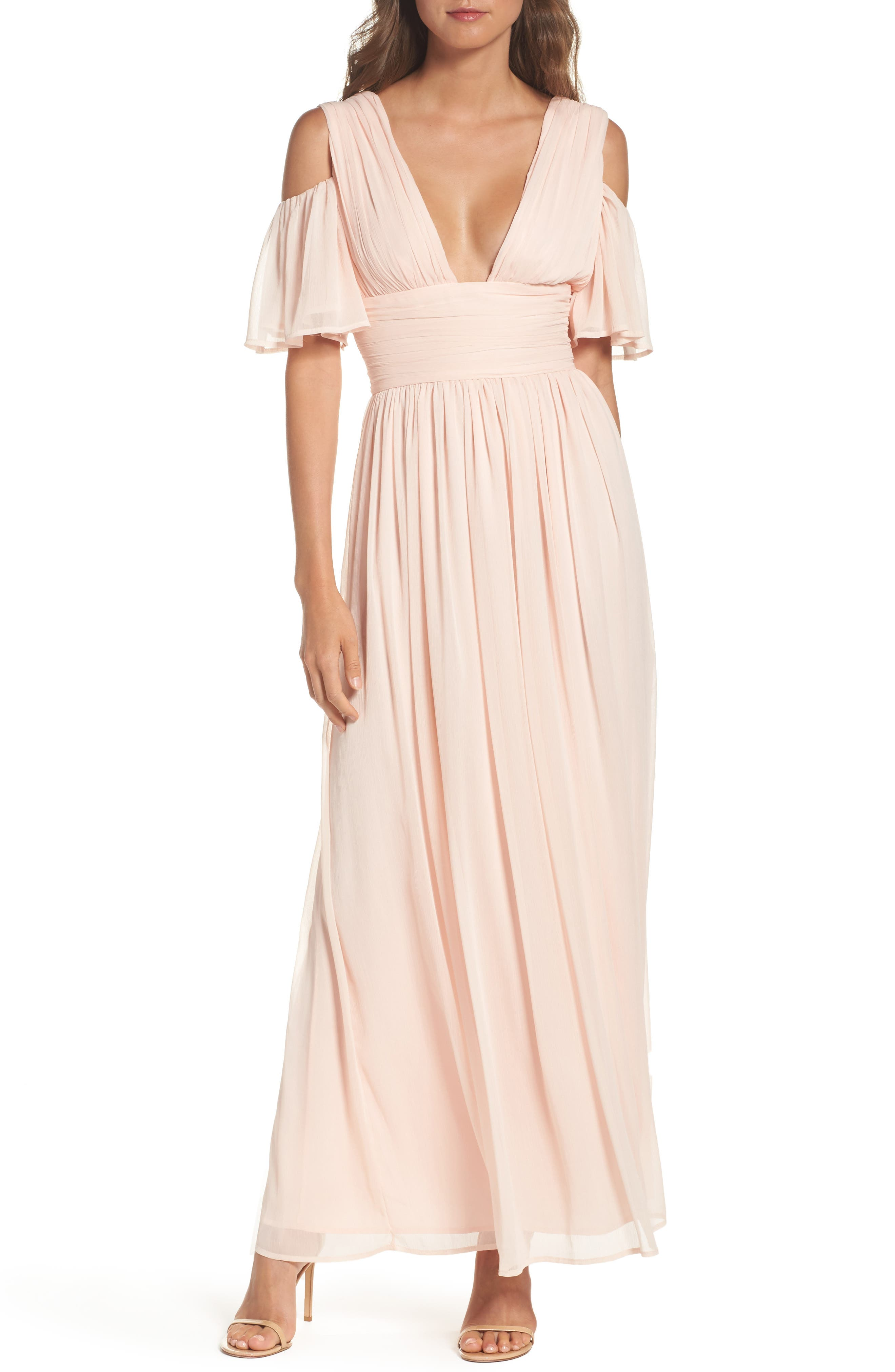 Main Image - French Connection Constance Cold Shoulder Maxi Dress