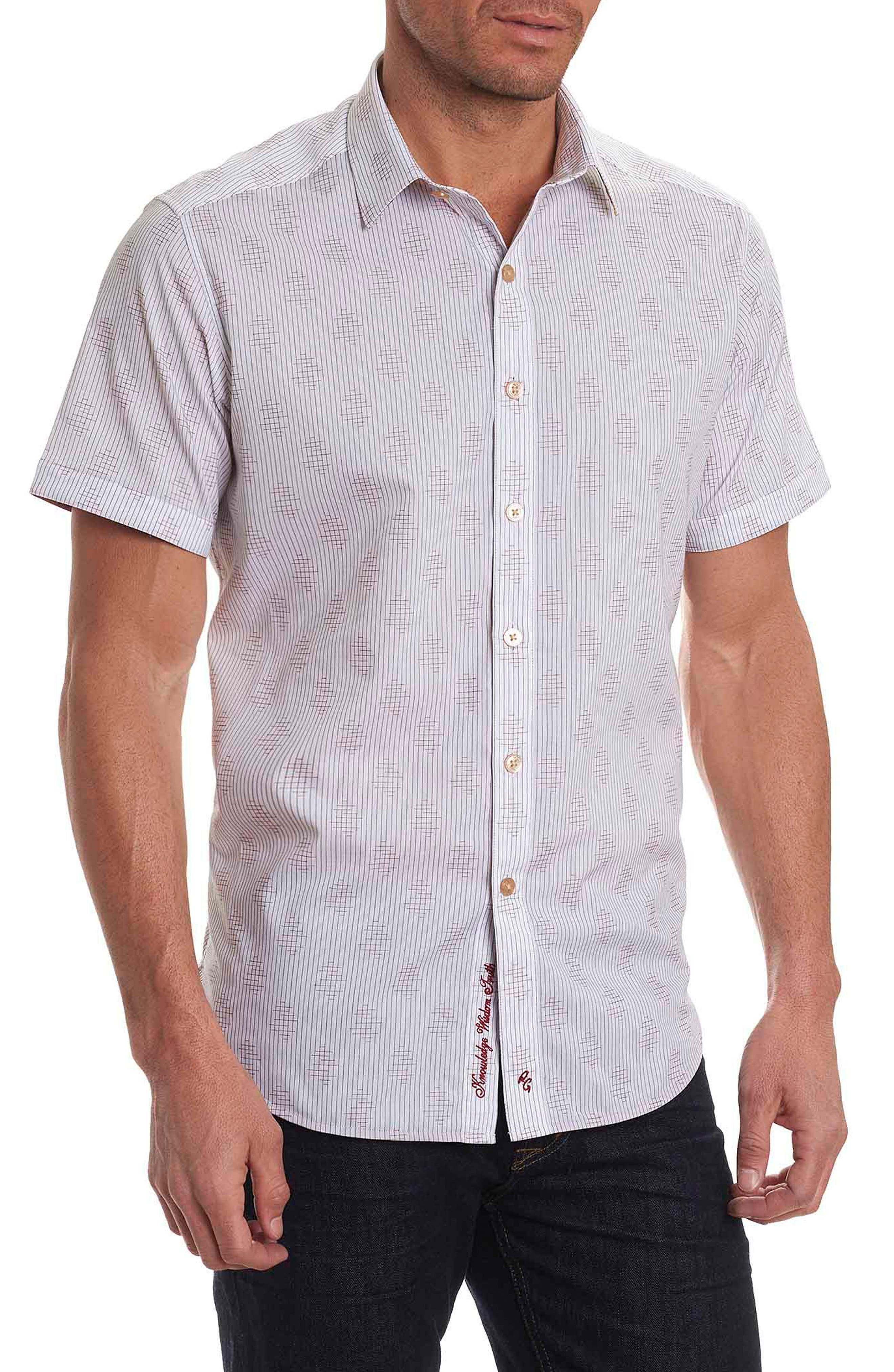 Main Image - Robert Graham Linden Stripe Short Sleeve Sport Shirt