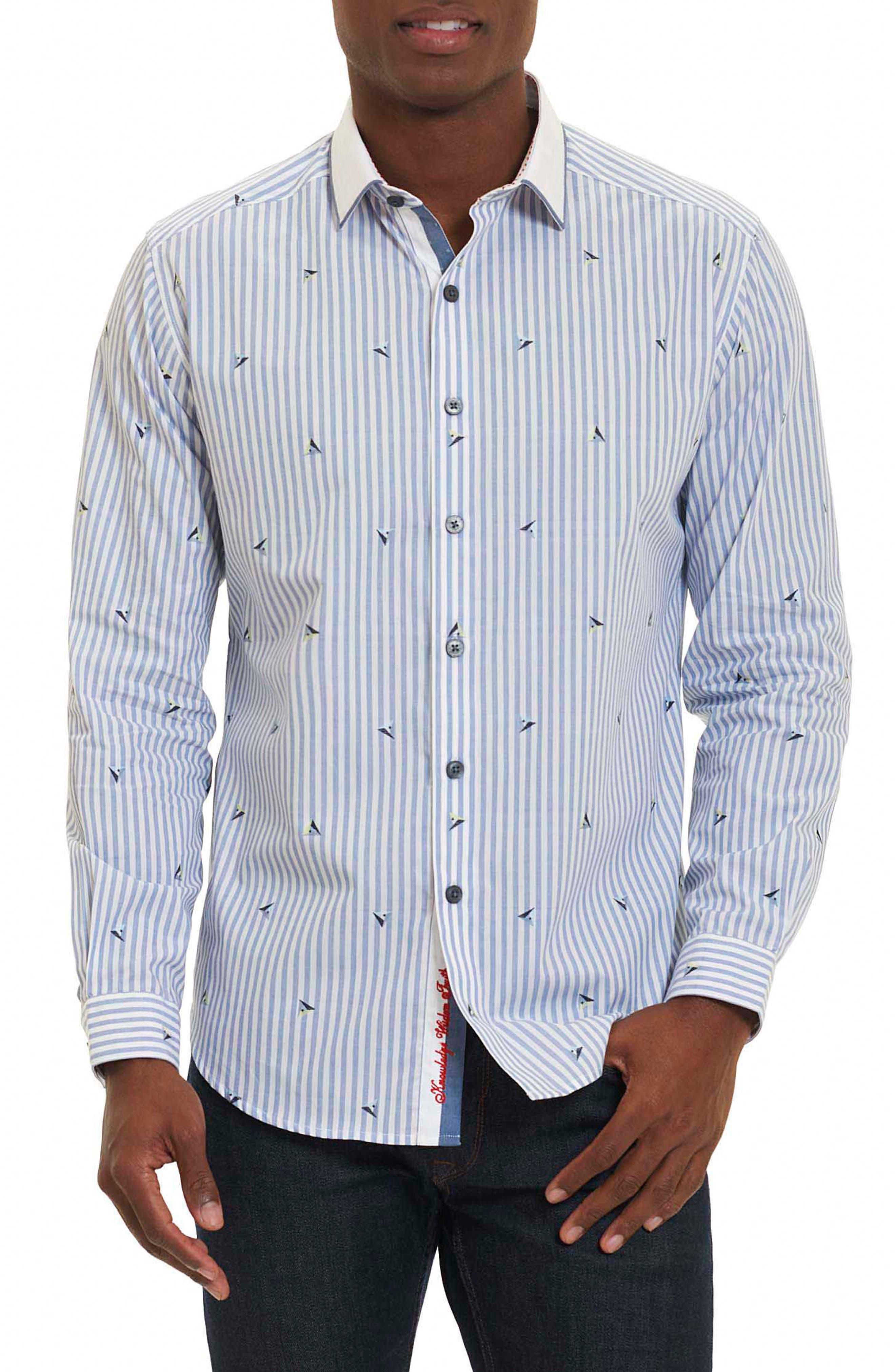 Del Ray Oaks Stripe Sport Shirt,                         Main,                         color, Blue