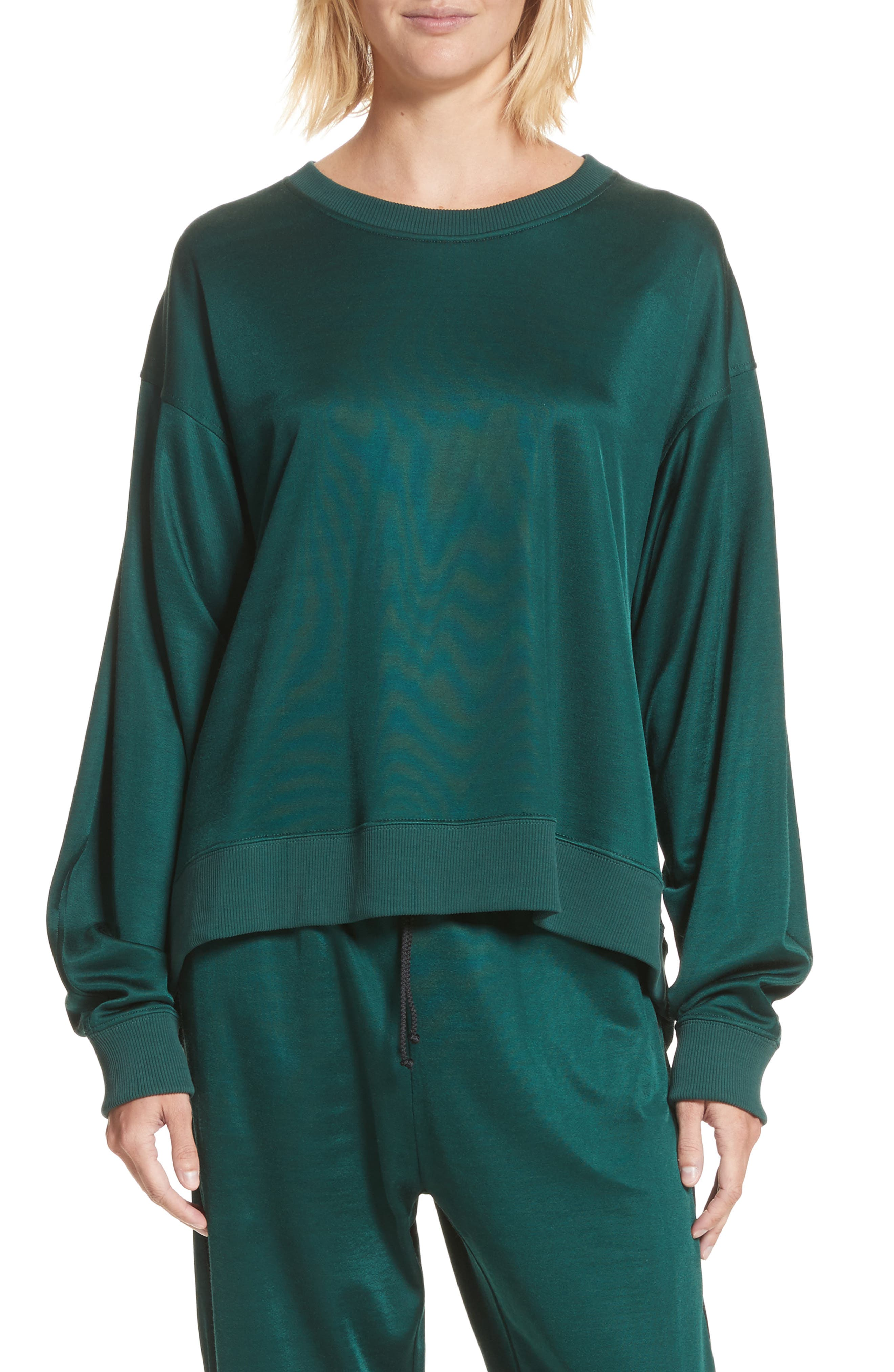 Track Suit Pullover,                         Main,                         color, Pine