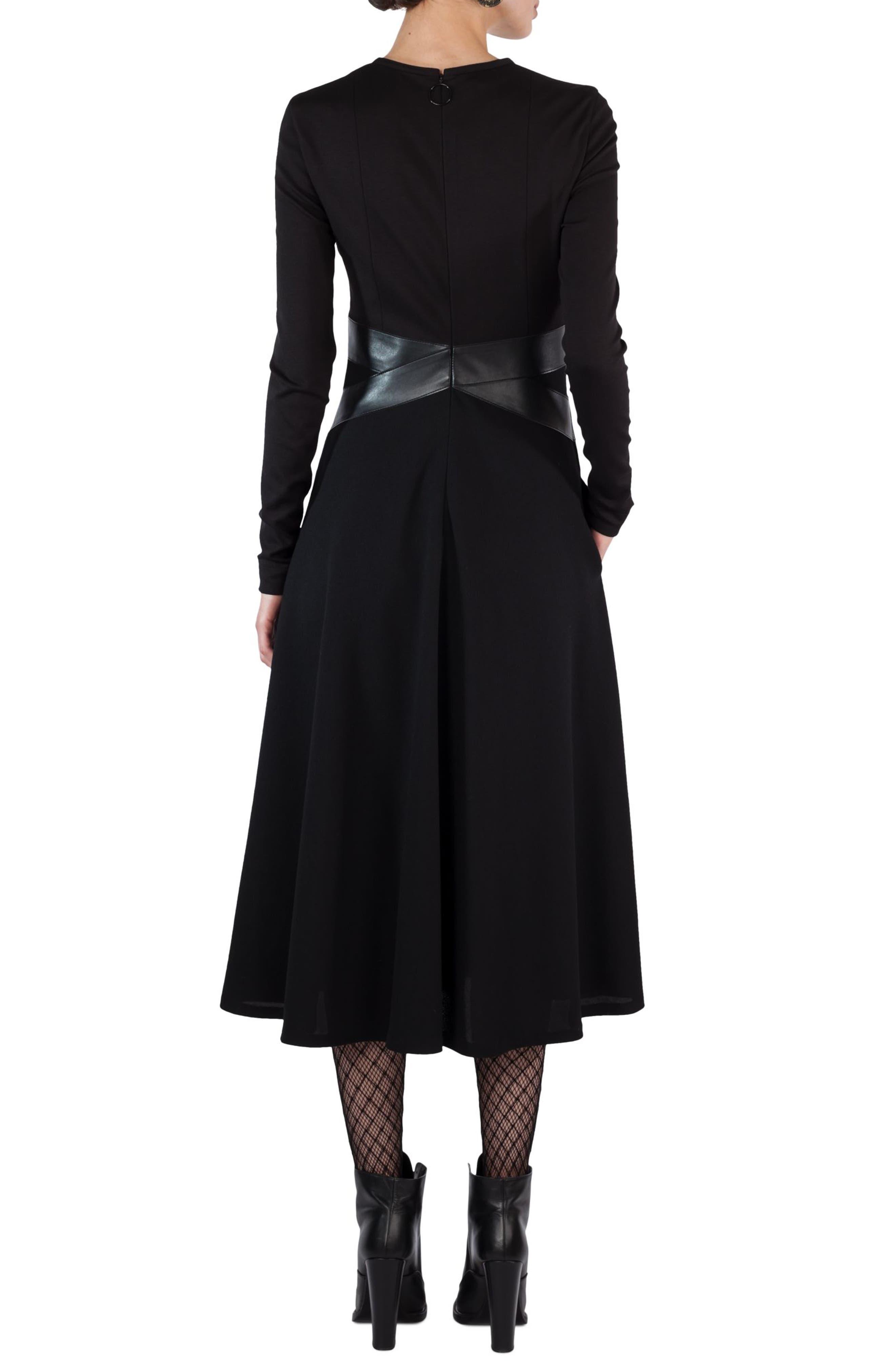 Alternate Image 2  - Akris punto Leather Waist A-Line Dress
