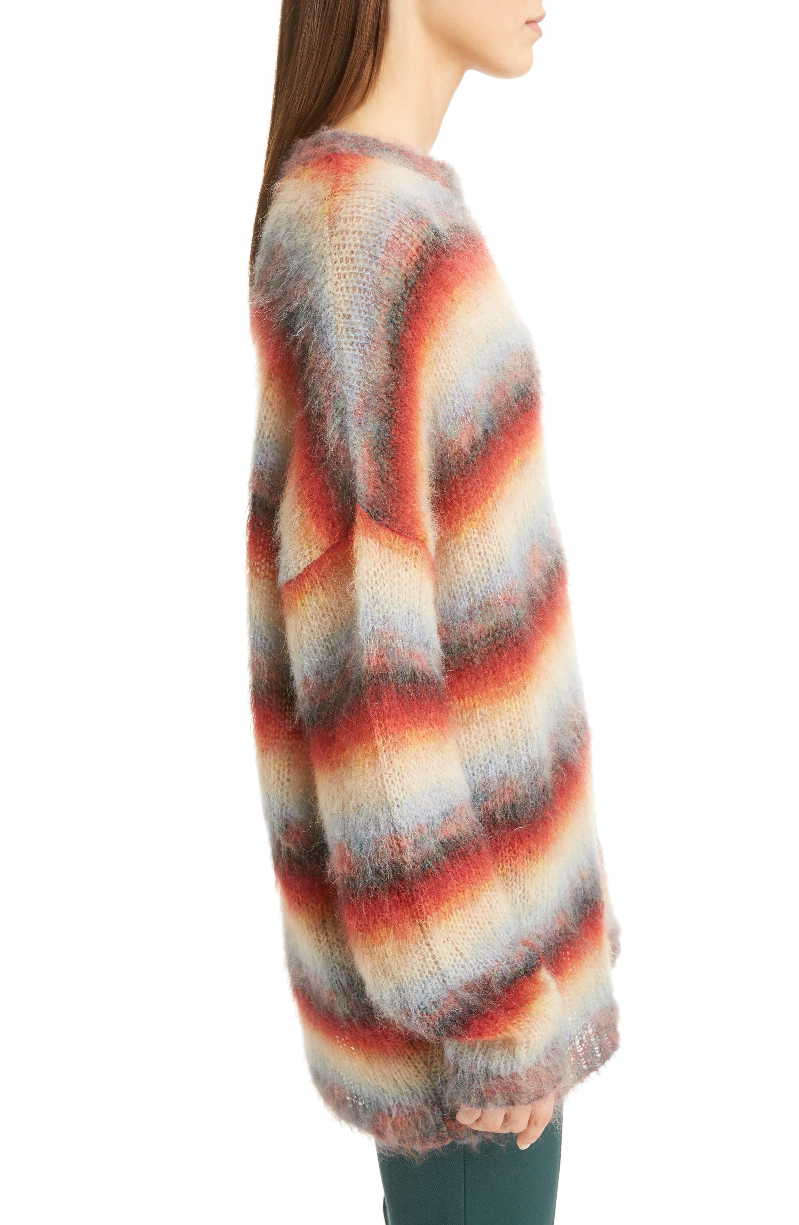 Mohair Blend Dégradé Stripe Sweater,                             Alternate thumbnail 3, color,                             Multi