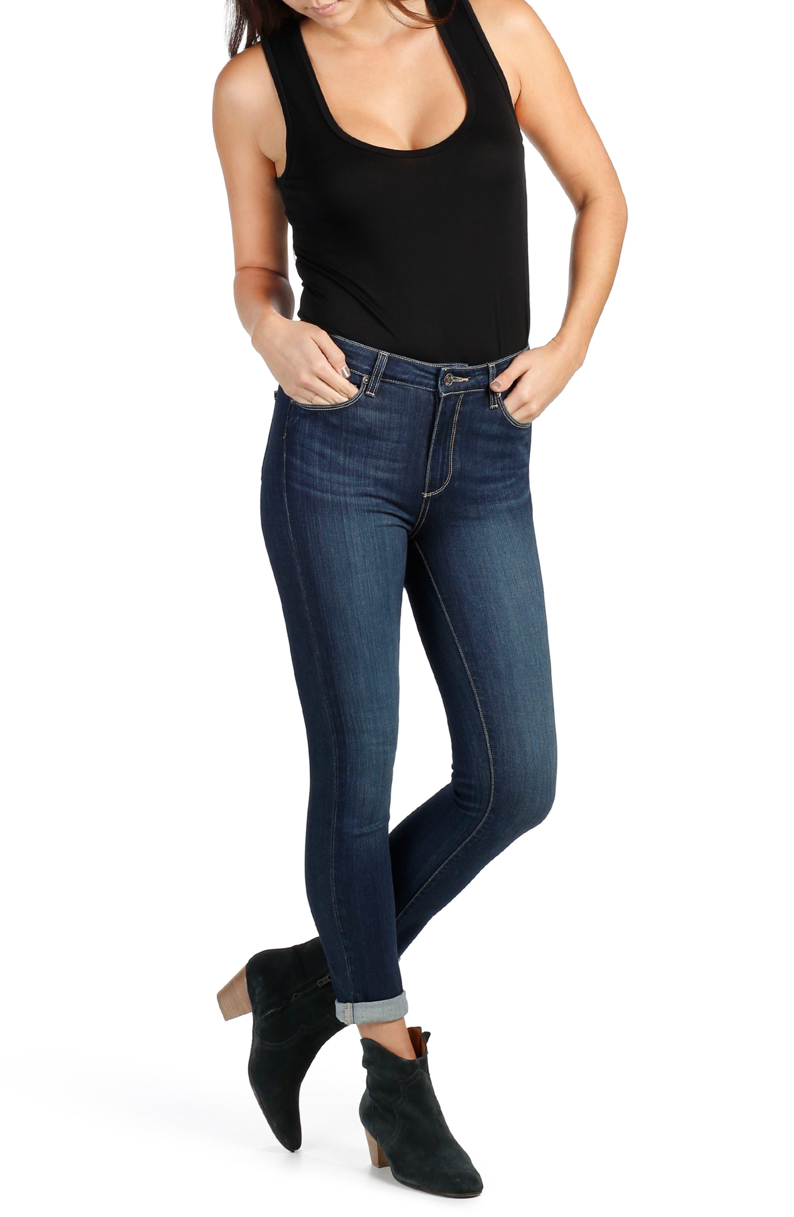 Alternate Image 2  - PAIGE Transcend - Hoxton High Waist Crop Skinny Jeans (Drift)