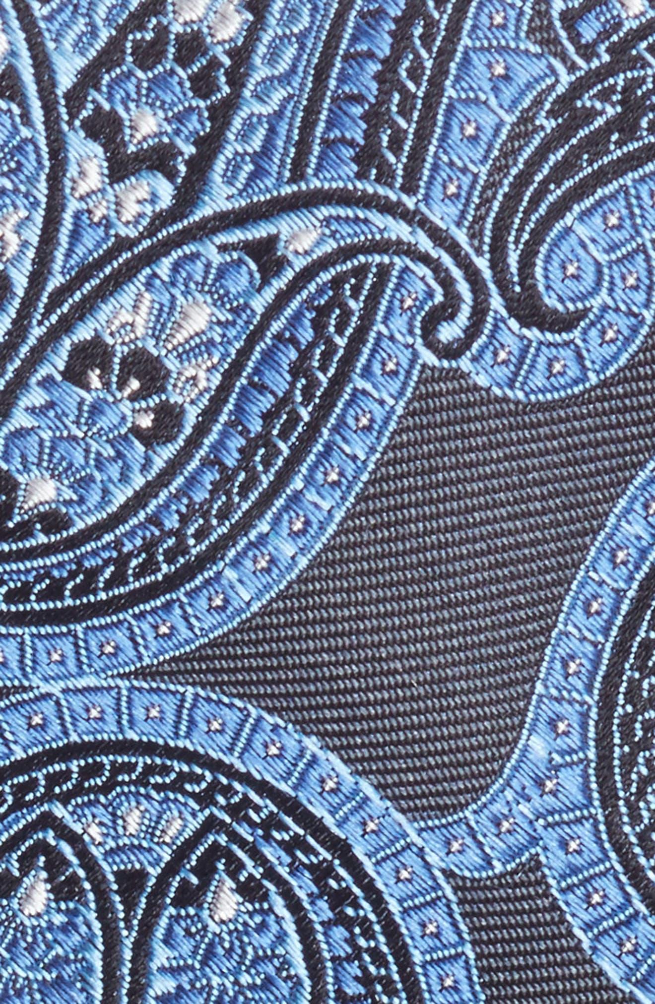 Paisley Silk Tie,                             Alternate thumbnail 2, color,                             Grey/ Blue
