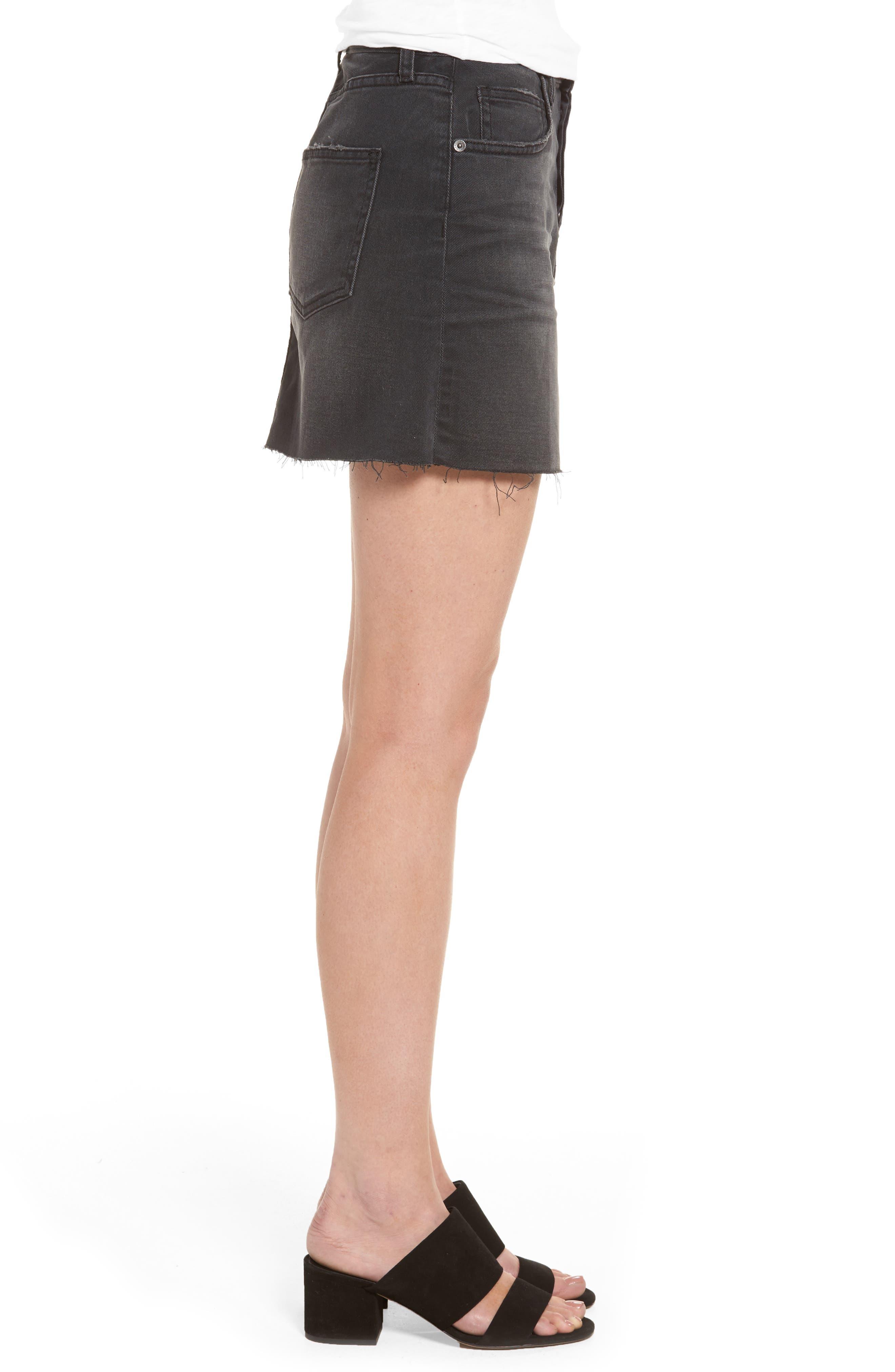Alternate Image 3  - Current/Elliott Cut Off Miniskirt