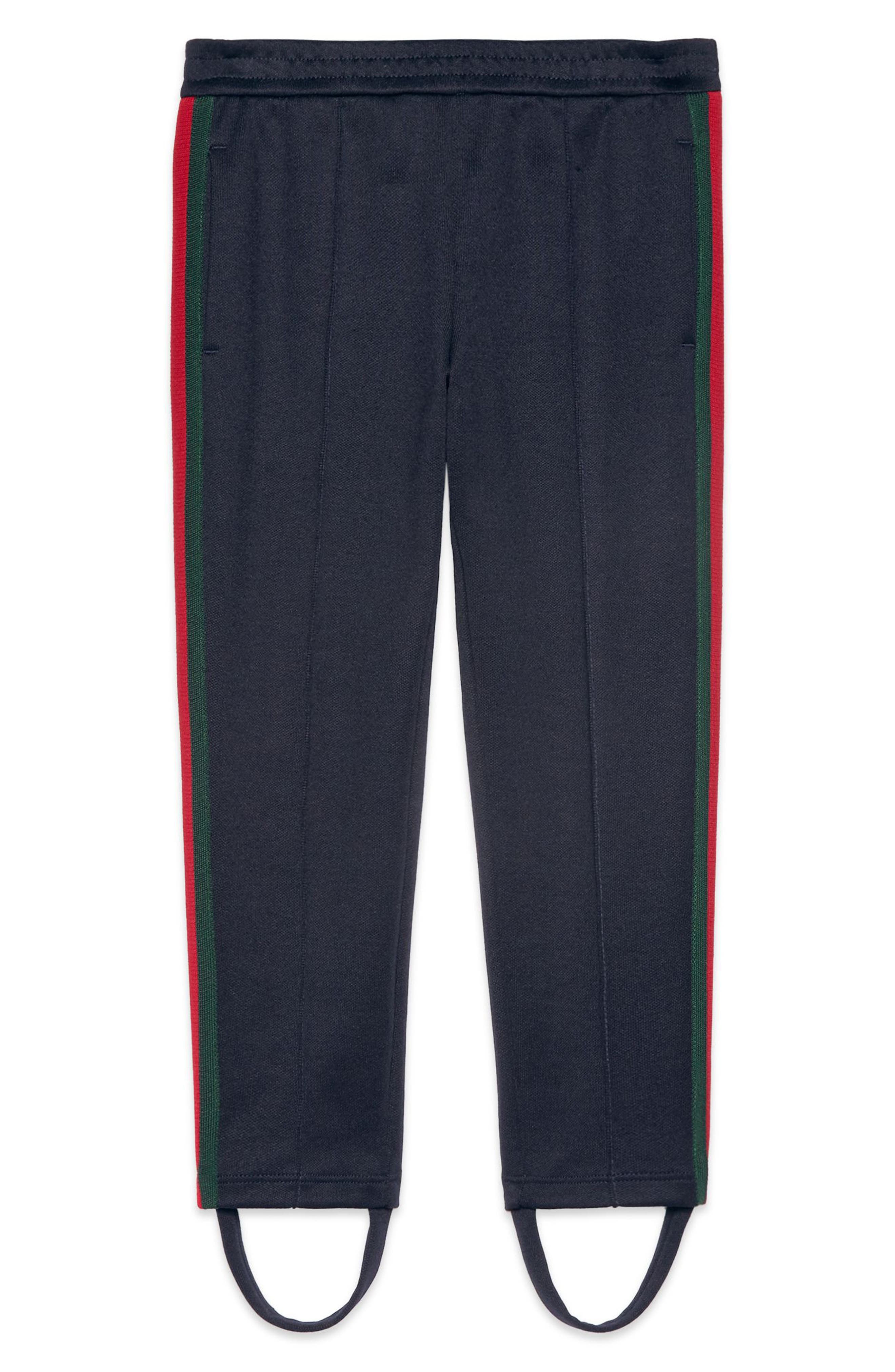 GUCCI Stripe Jersey Stirrup Pants
