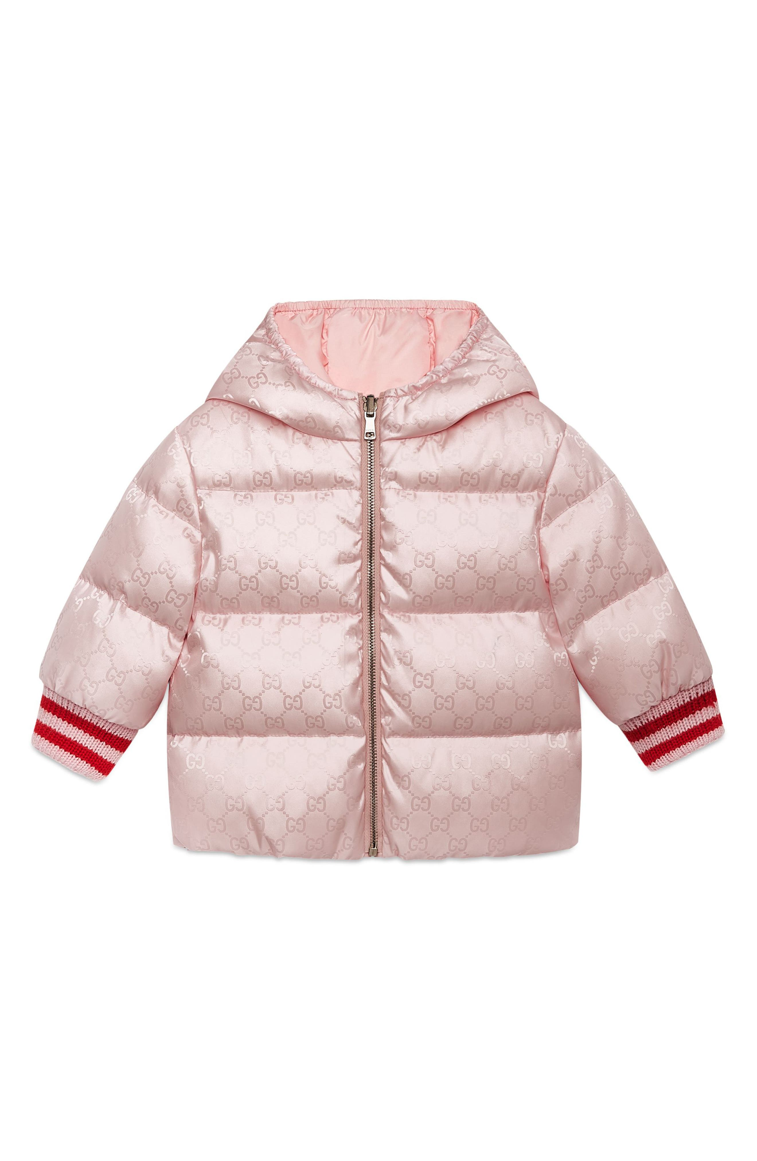 Gucci Reversible GG Jacquard Water-Resistant Down Jacket (Baby Girls)