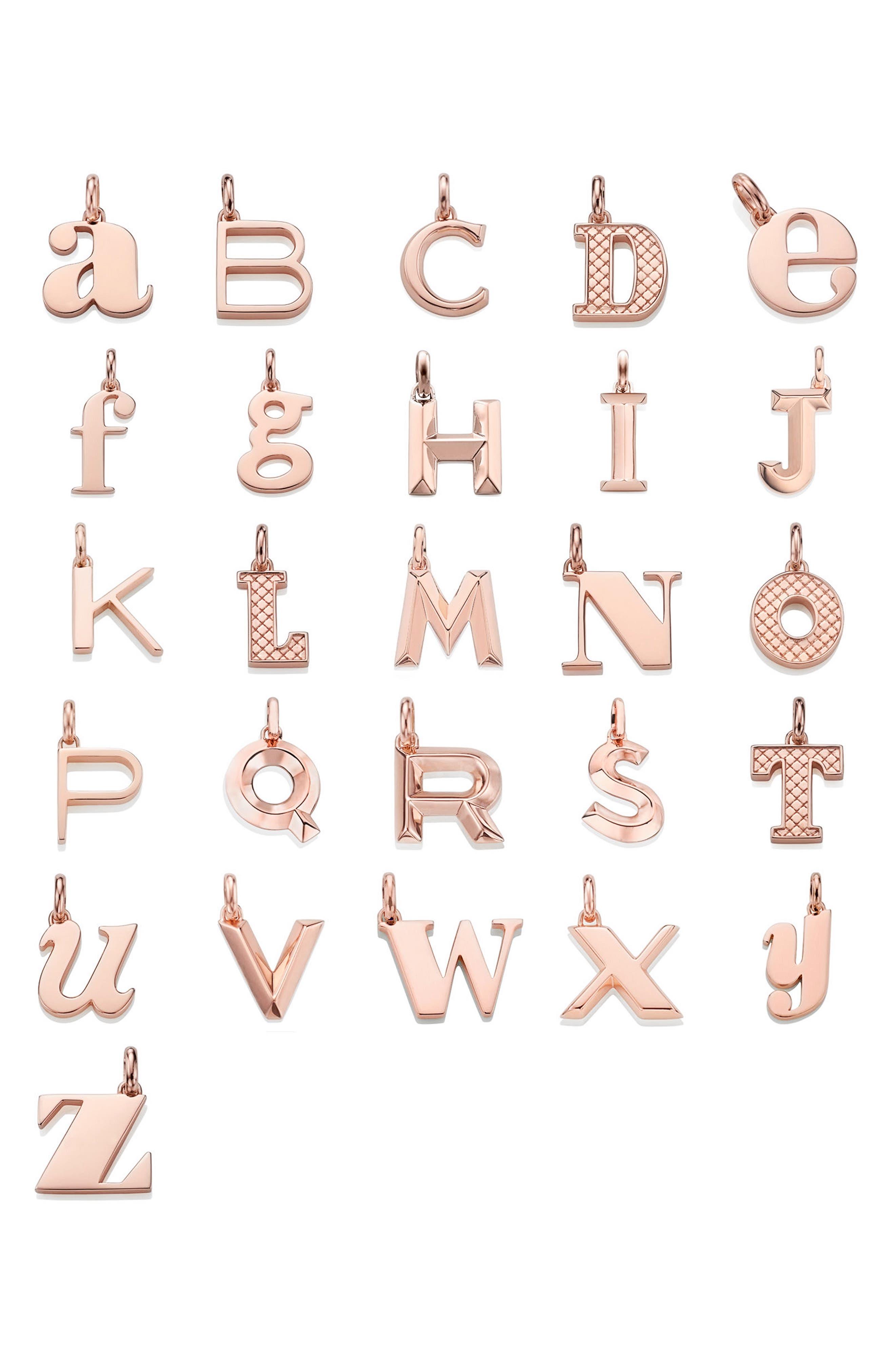 Alternate Image 5  - Monica Vinader Alphabet Pendant