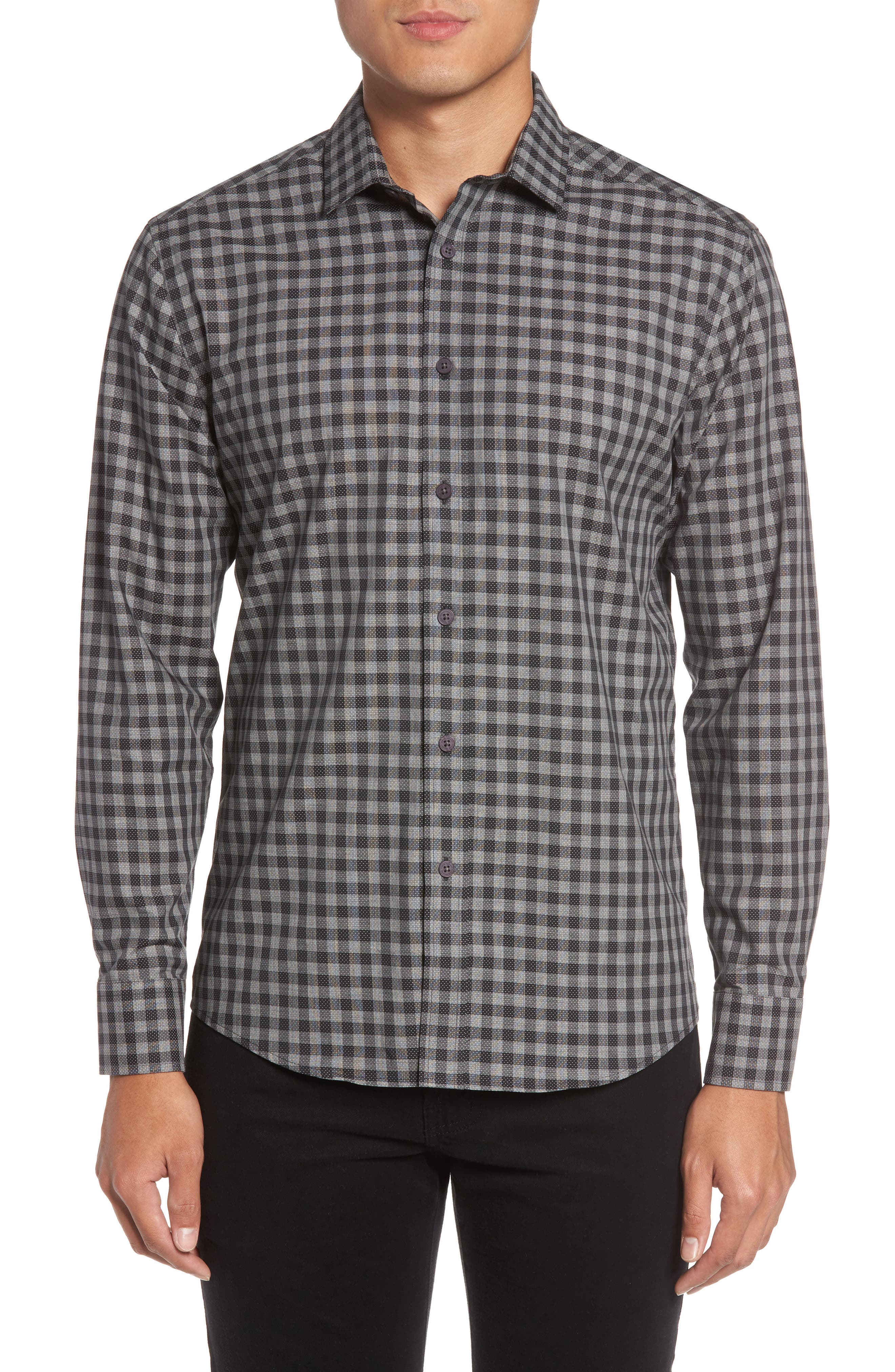 Vince Camuto Slim Fit Check Sport Shirt