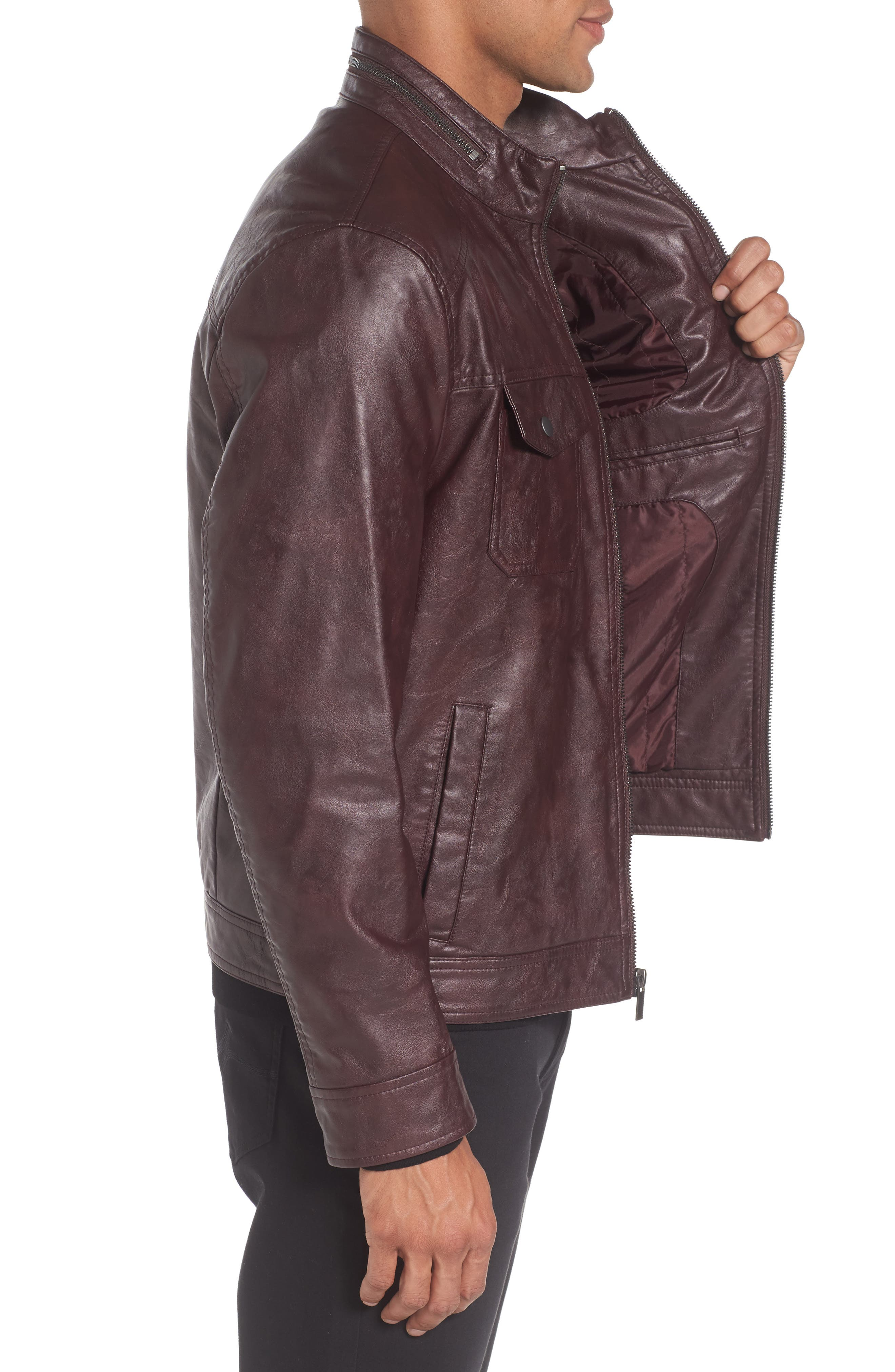 Alternate Image 3  - Reaction Kenneth Cole Faux Leather Jacket