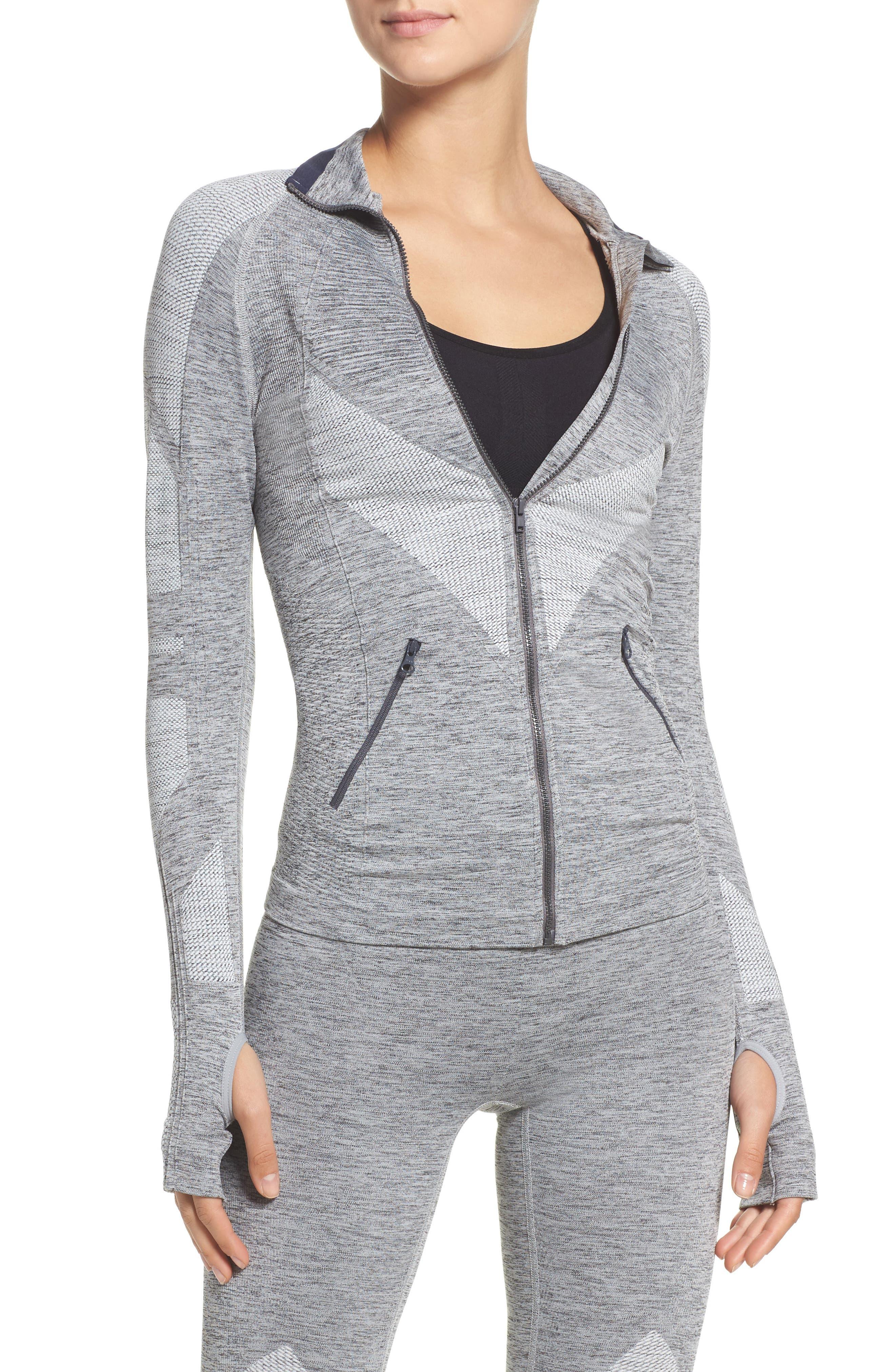 Summit Seamless Jacket,                         Main,                         color, Grey Marl