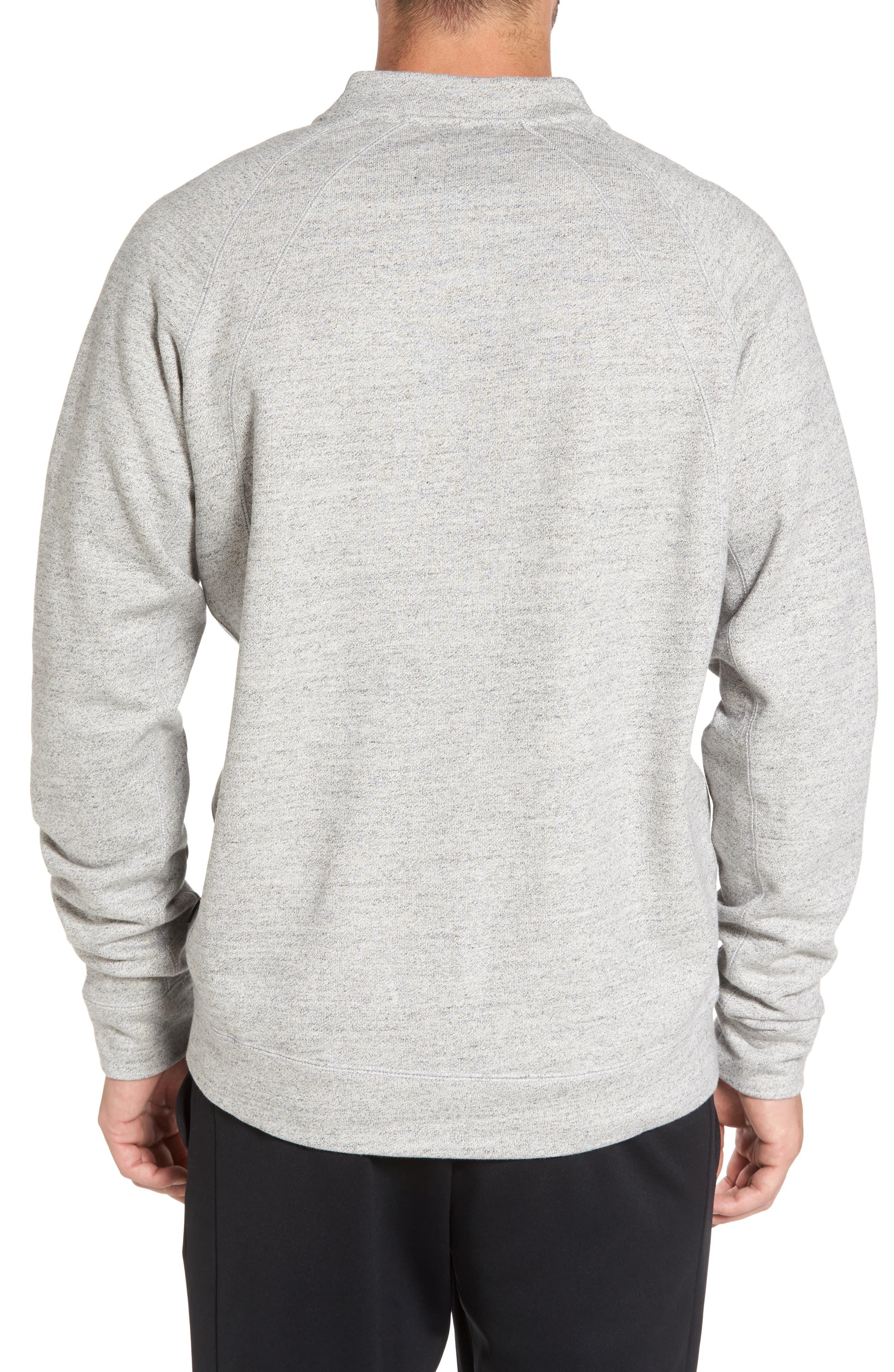 Sportswear Wings Fleece Bomber Jacket,                             Alternate thumbnail 2, color,                             Dark Grey Heather/ Black