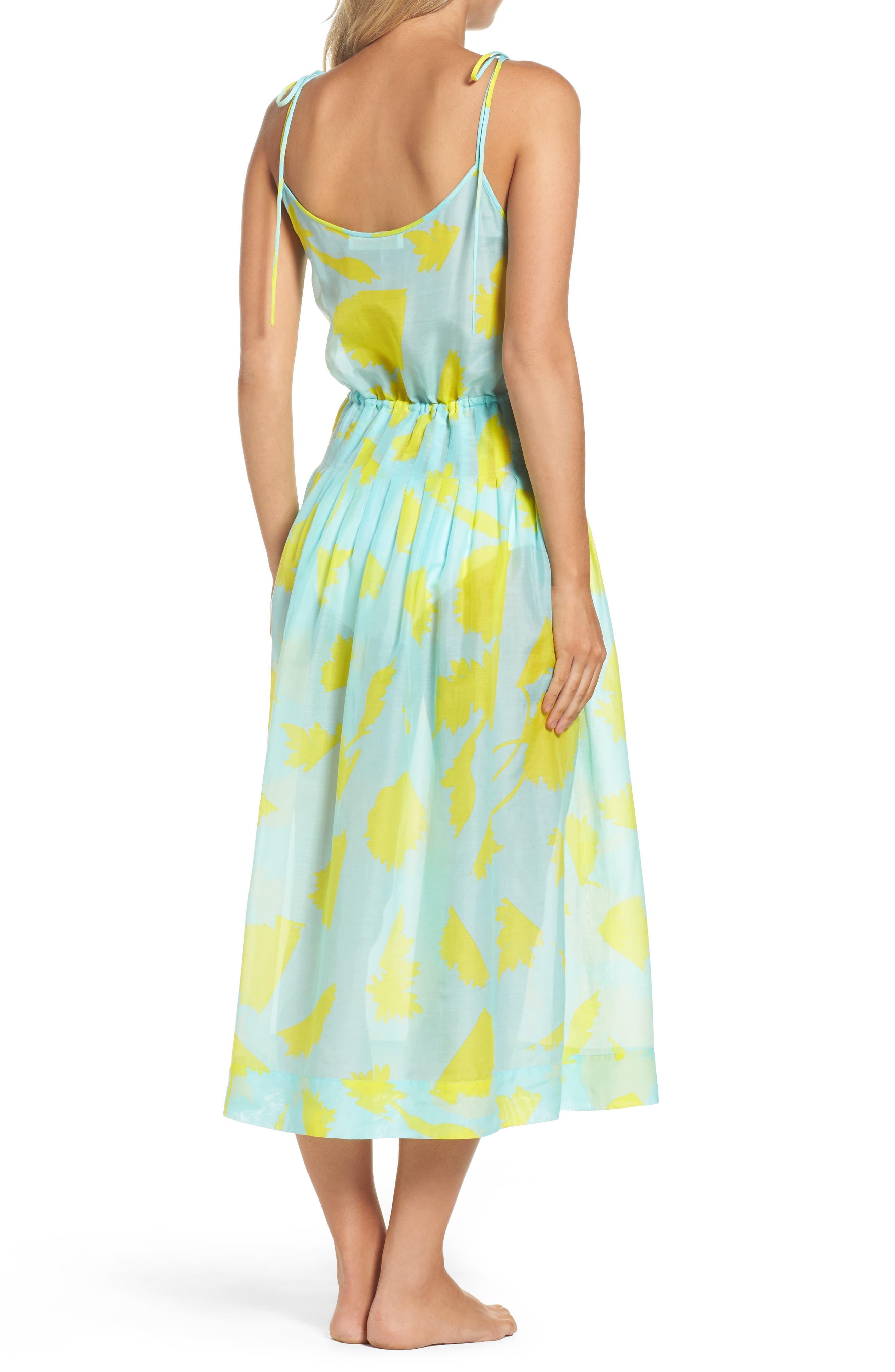 Cover-Up Midi Dress,                             Alternate thumbnail 2, color,                             Cardan Lr