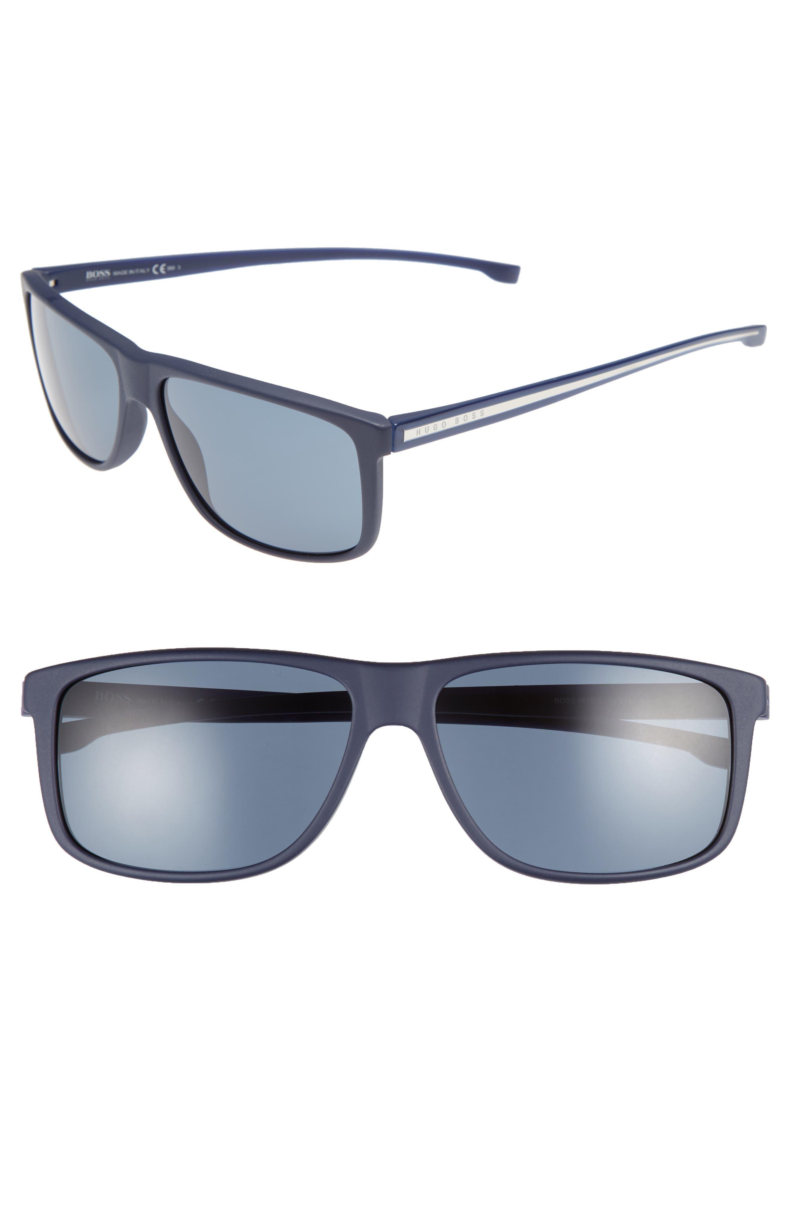 60mm Sunglasses,                             Main thumbnail 1, color,                             Blue/ Blue