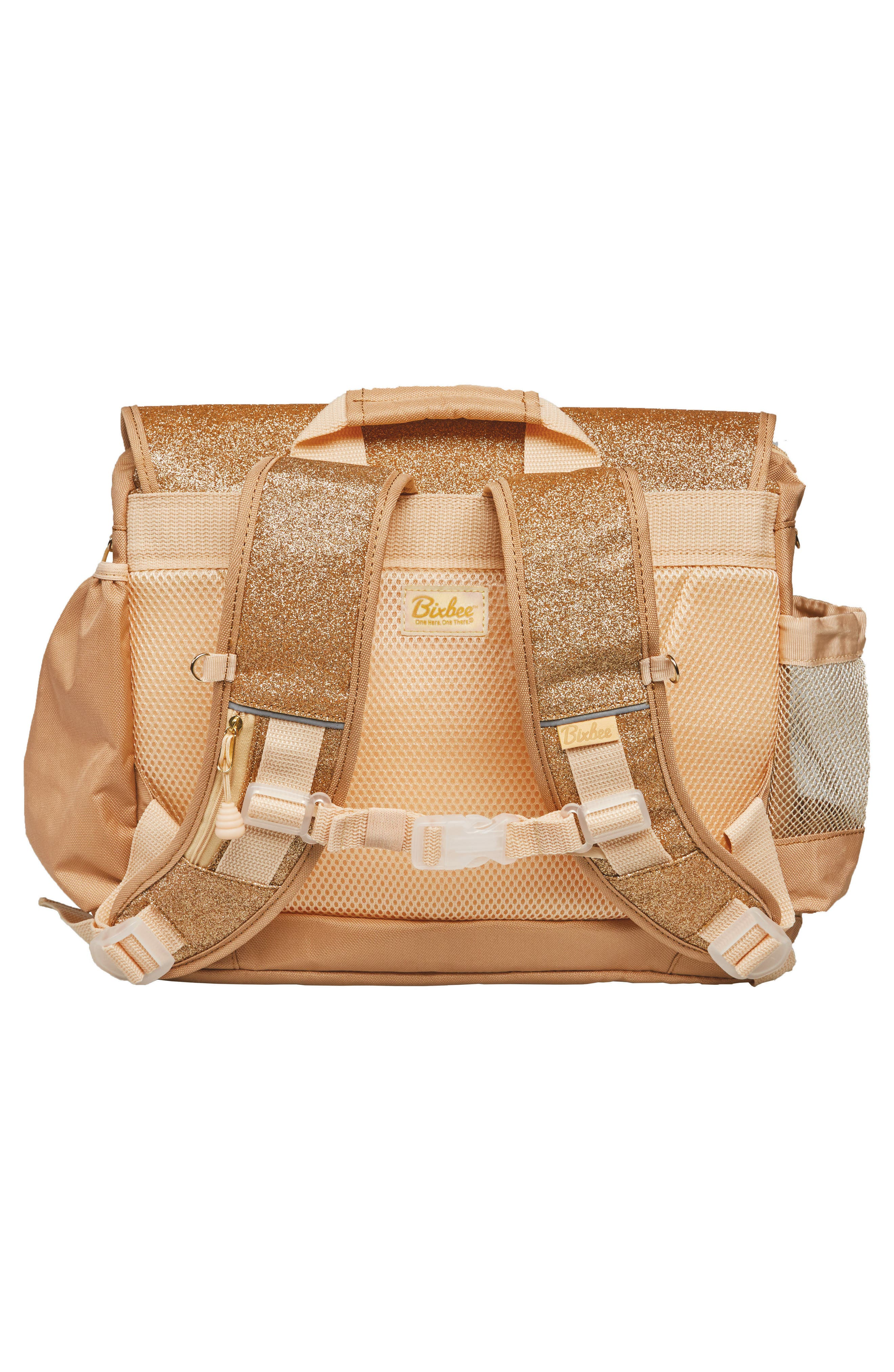 Sparkalicious Water Resistant Backpack,                             Alternate thumbnail 3, color,                             Gold
