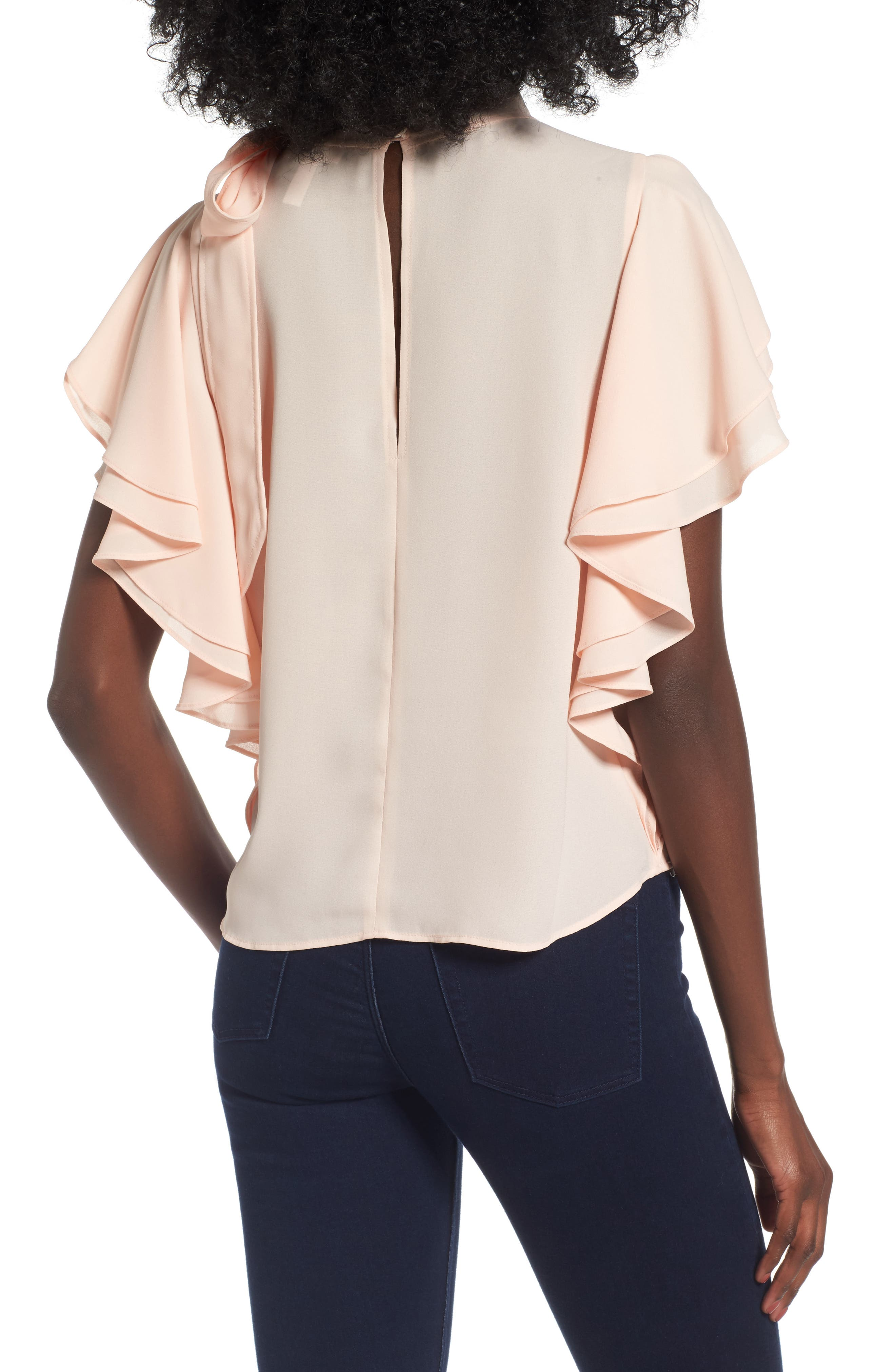 Alternate Image 2  - Leith Ruffle Tie Neck Top