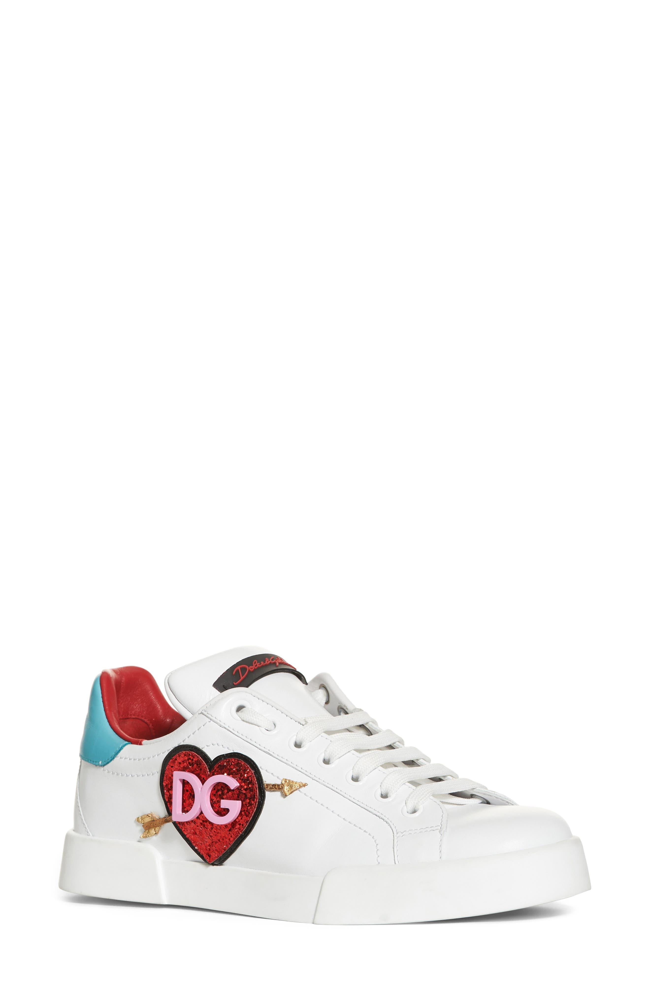 Heart Sneaker,                         Main,                         color, White/ Blue