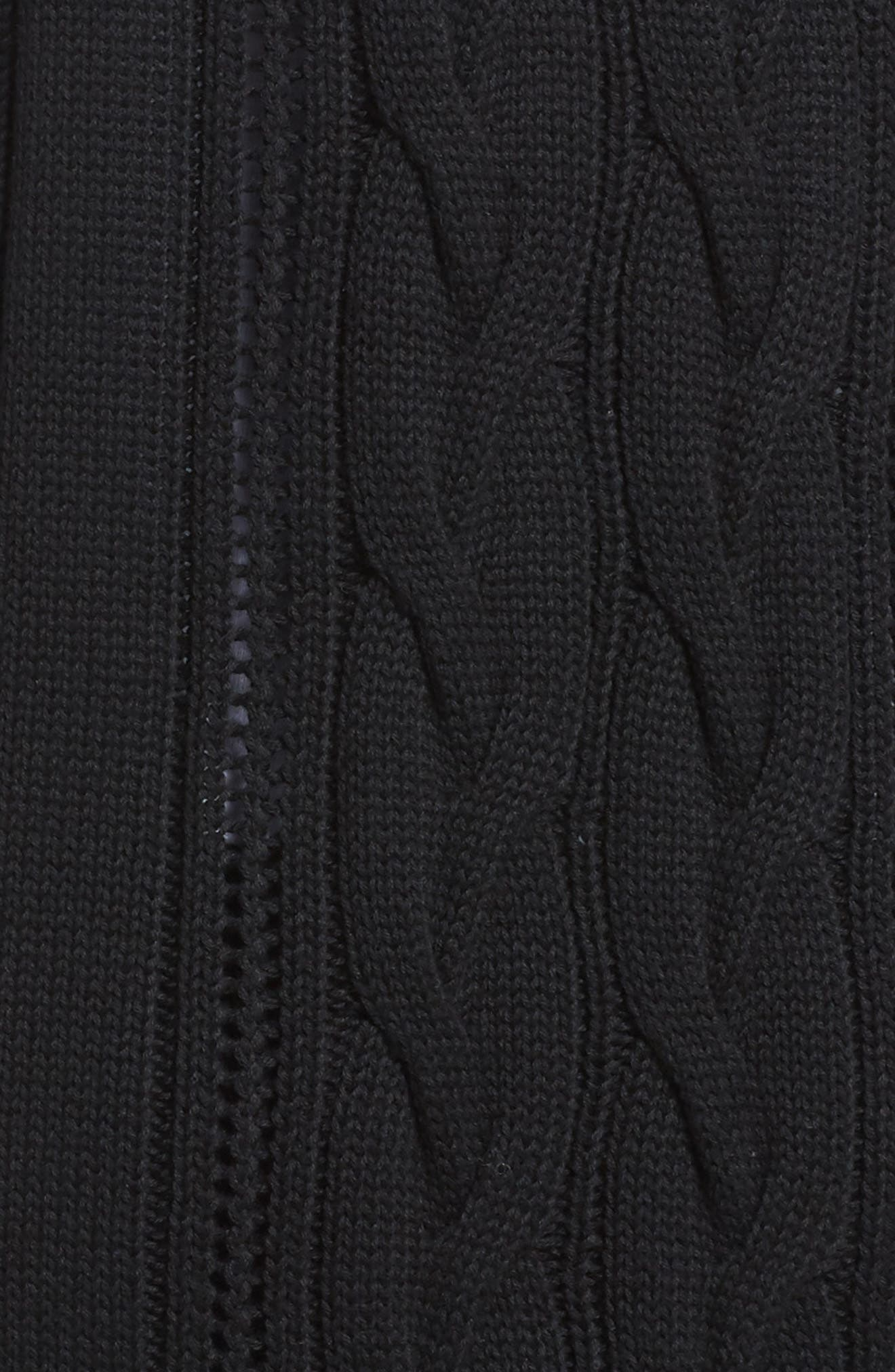 Hayley Long Cardigan,                             Alternate thumbnail 6, color,                             Black
