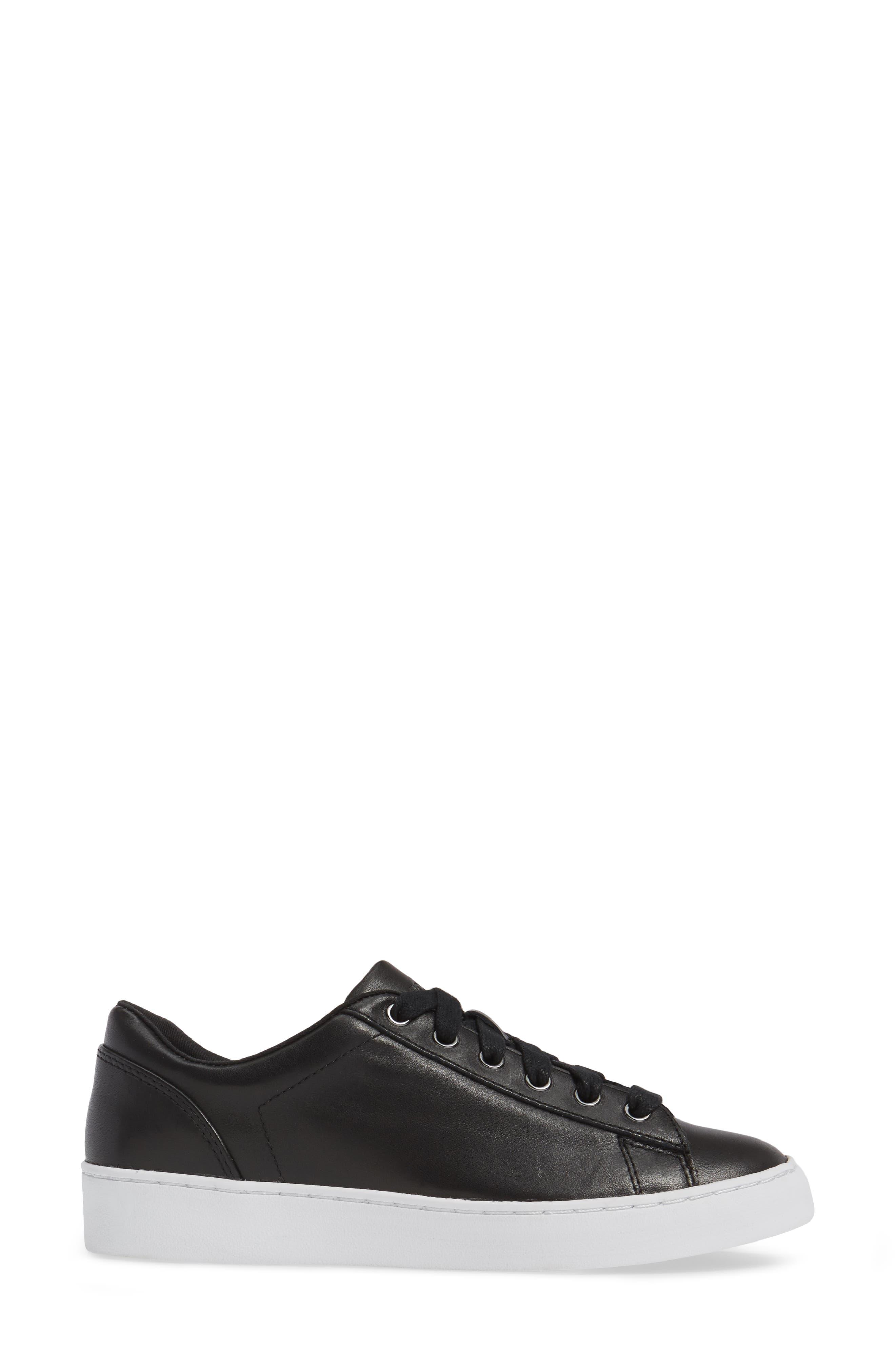 Splendid Syra Sneaker,                             Alternate thumbnail 3, color,                             Black Leather