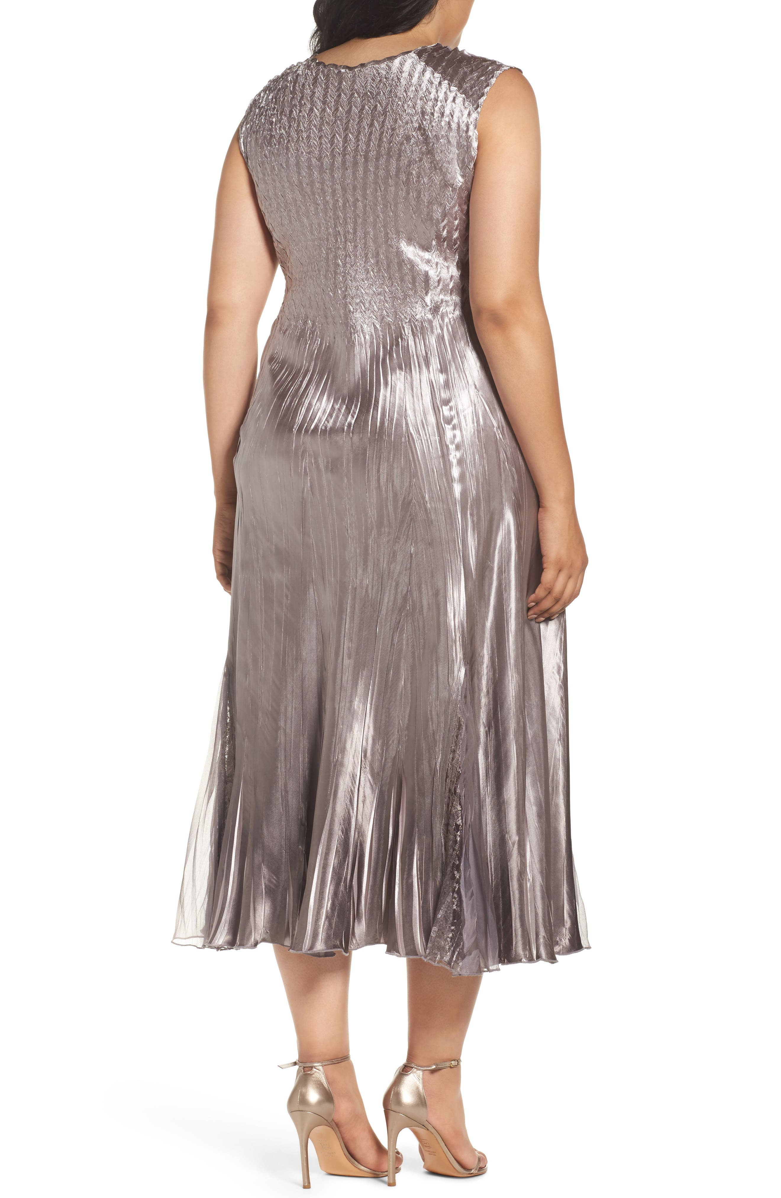 Alternate Image 2  - Komarov A-Line Midi Dress with Jacket (Plus Size)