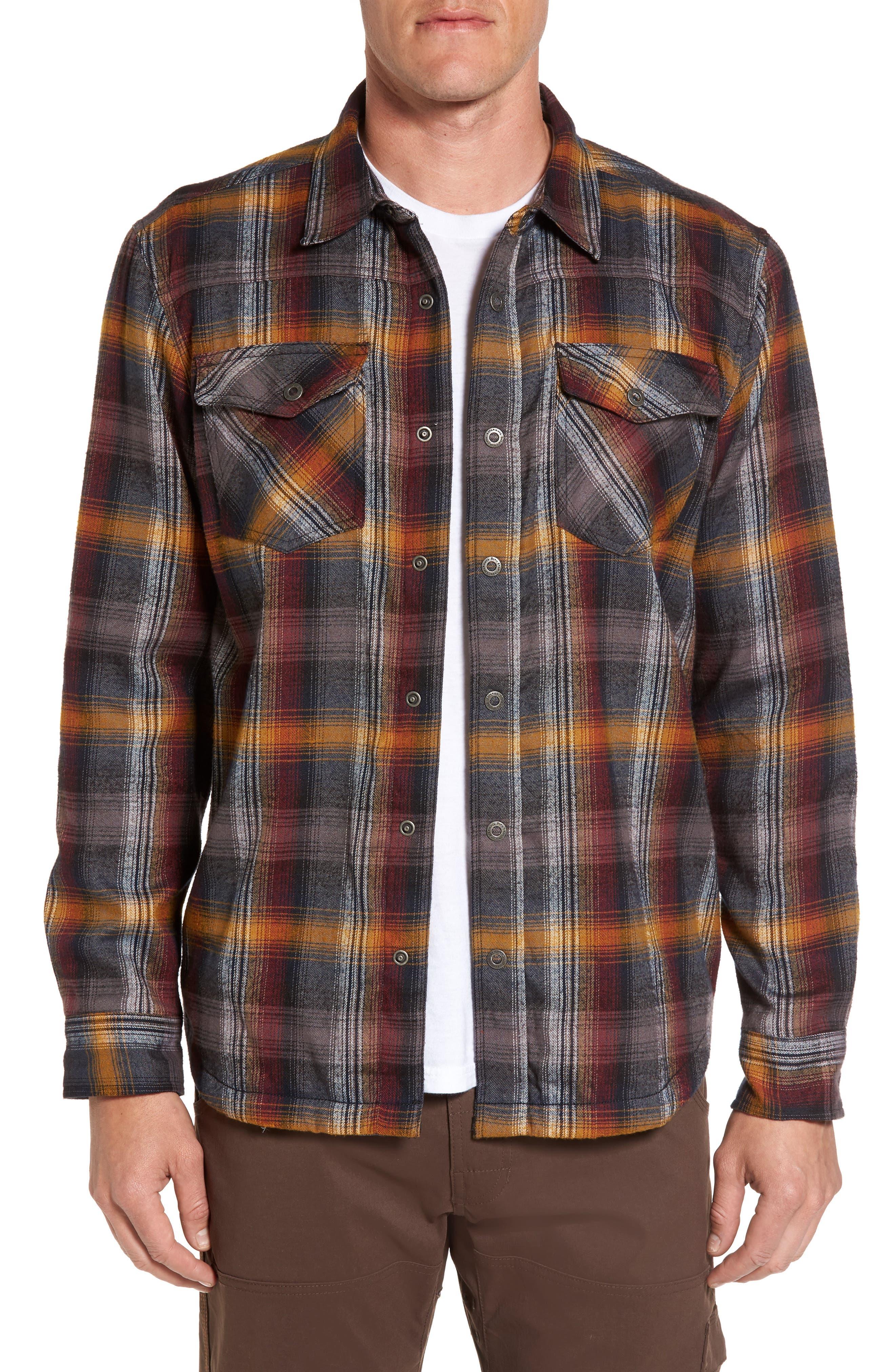Asylum Regular Fit Plaid Shirt Jacket,                         Main,                         color, Black