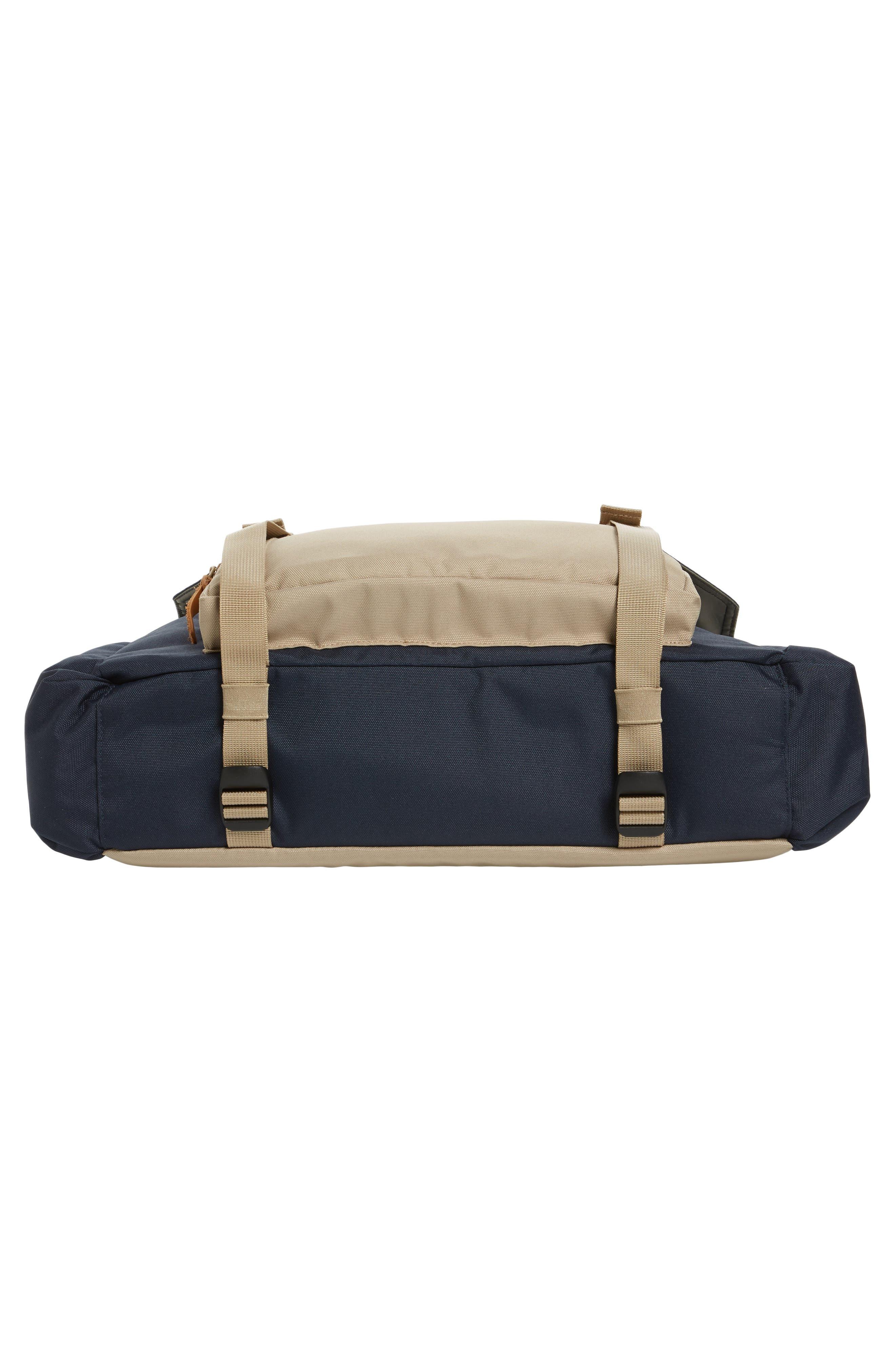 Crossridge Messenger Bag,                             Alternate thumbnail 6, color,                             Navy/ Tan