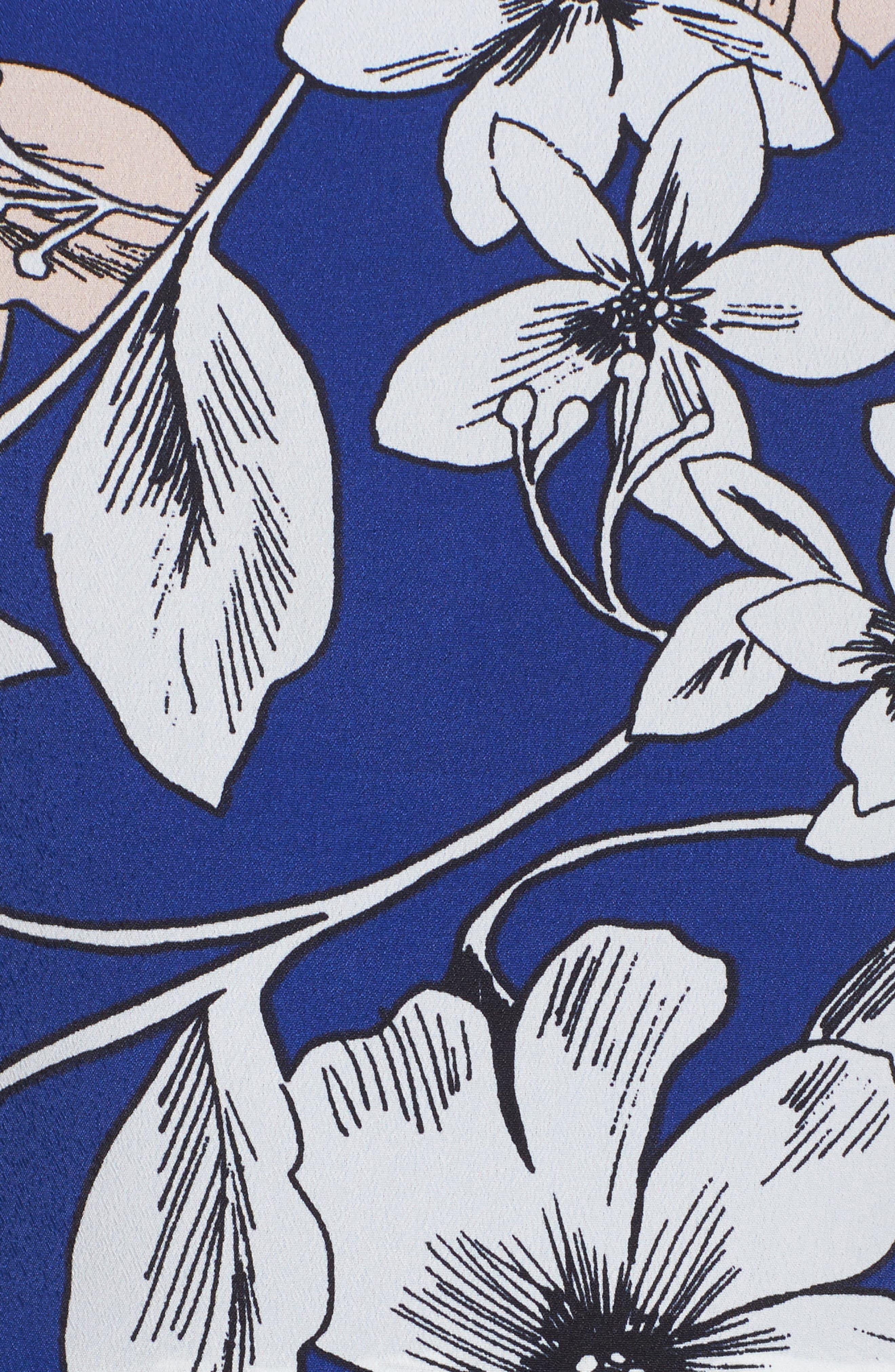 Alternate Image 5  - Eliza J Floral Print Fit & Flare Dress
