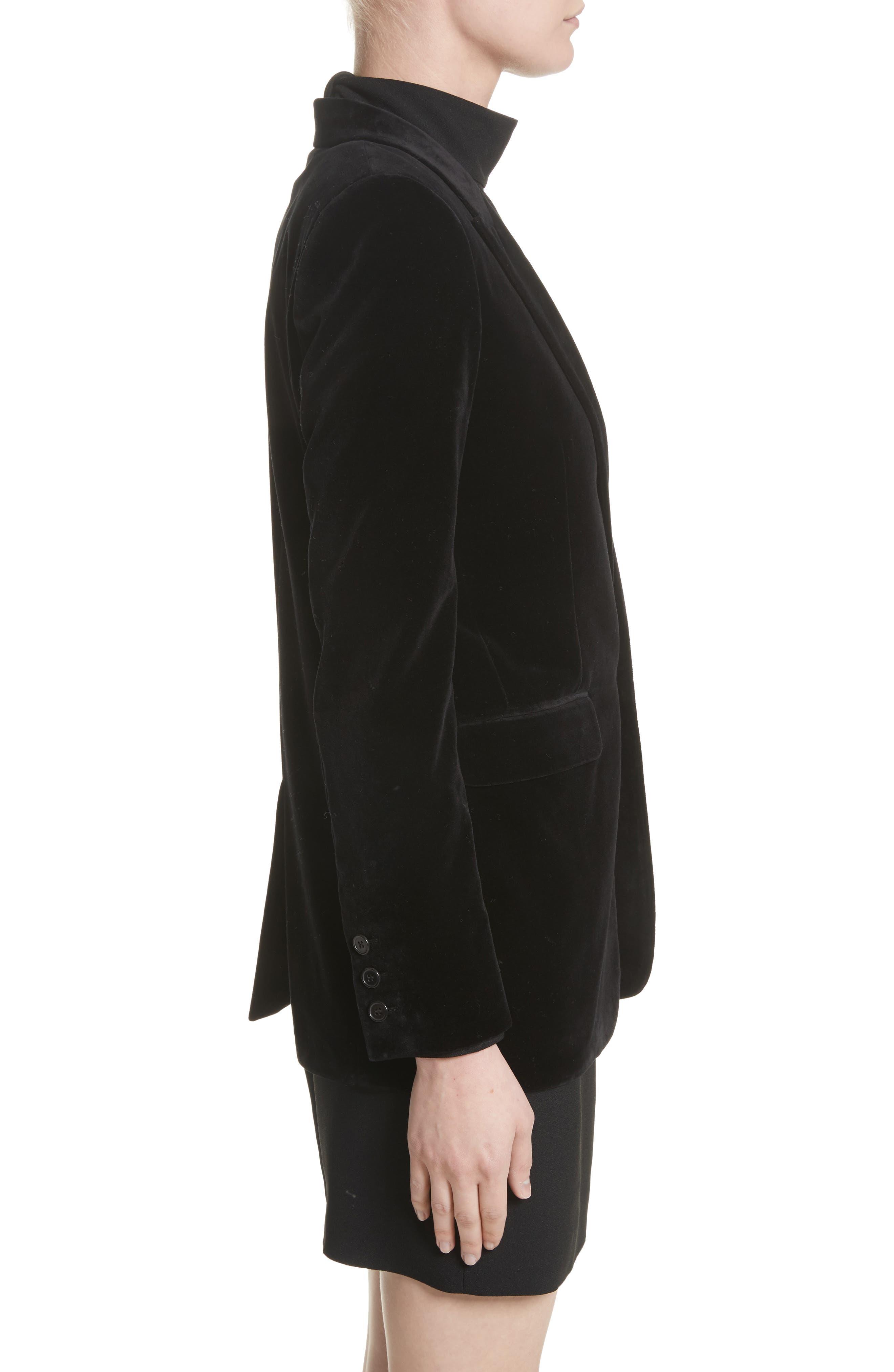 Alternate Image 5  - Saint Laurent Velvet Blazer