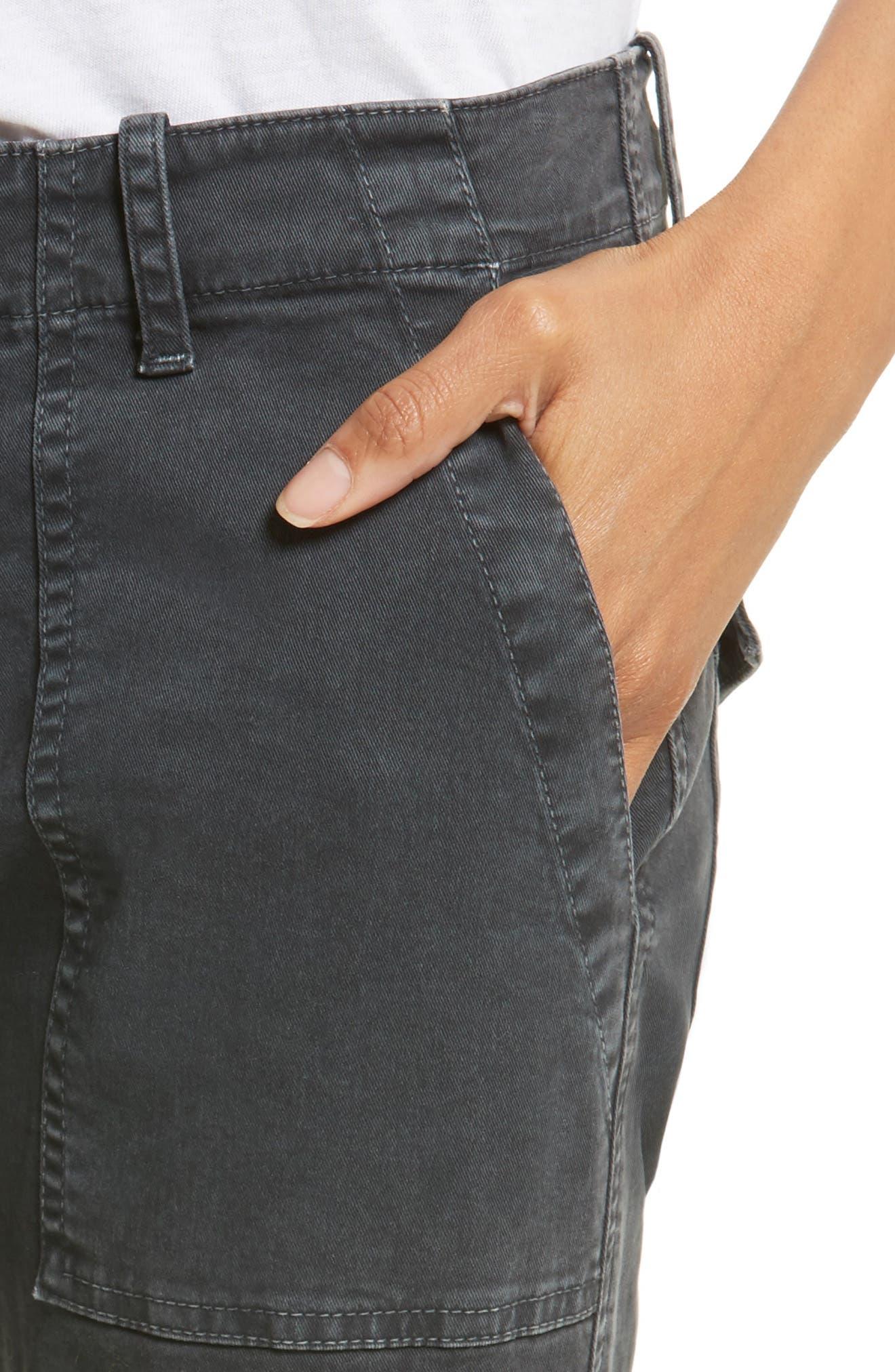 Alternate Image 4  - Nili Lotan Stretch Cotton Twill Crop Military Pants