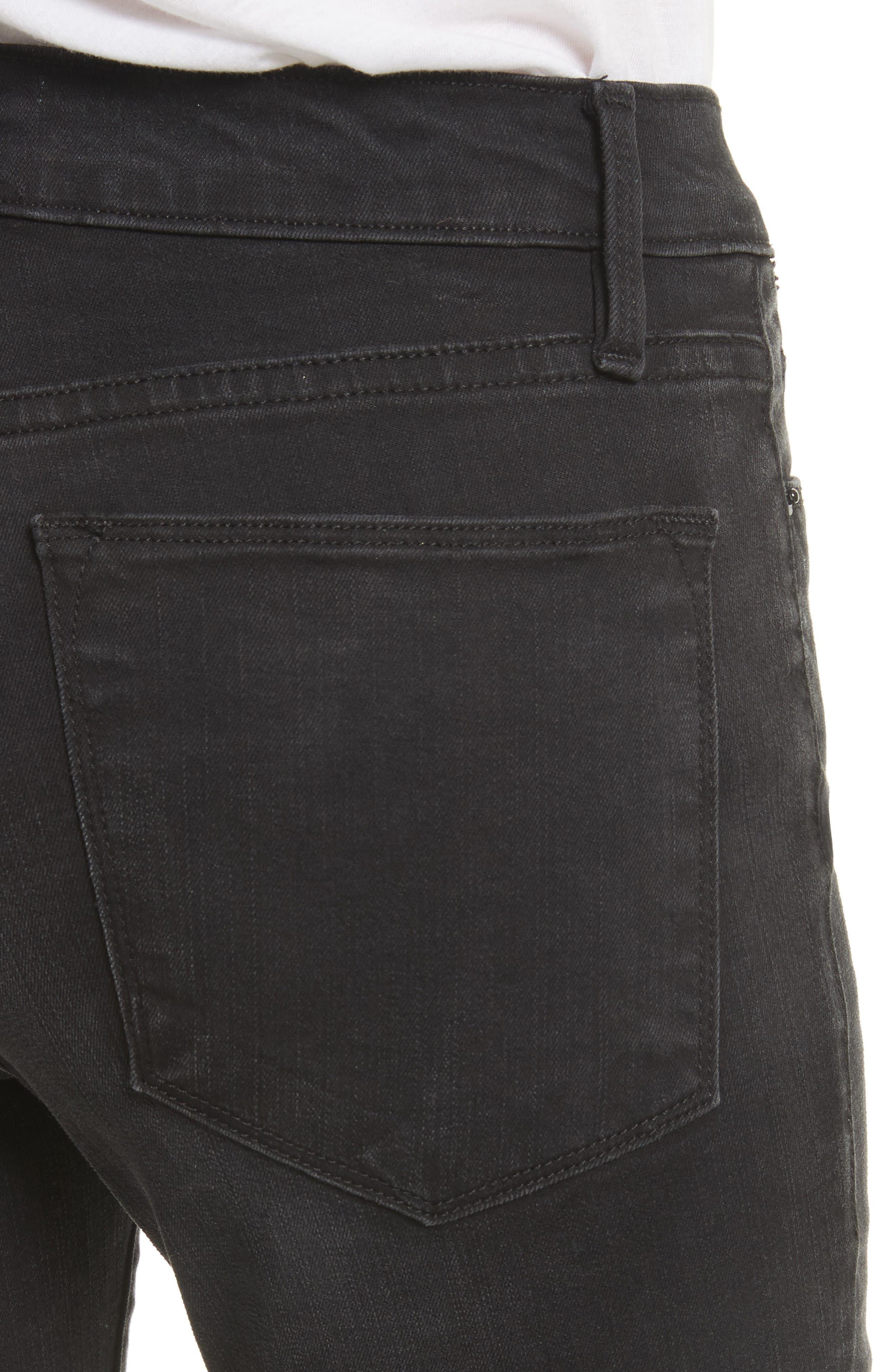 Le High Petal Hem Skinny Jeans,                             Alternate thumbnail 5, color,                             Harrington