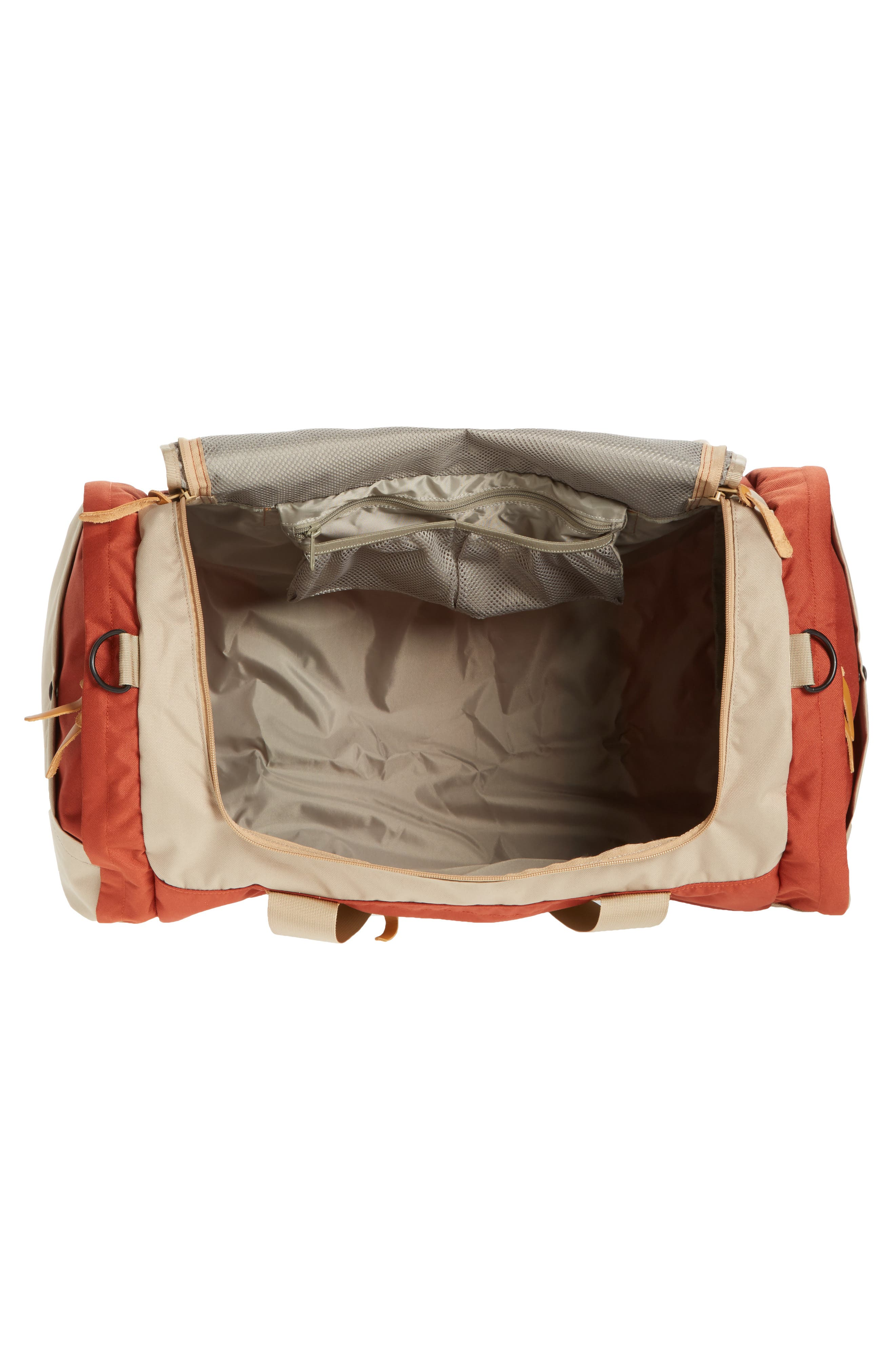 Arc Duffel Bag,                             Alternate thumbnail 4, color,                             Rust/ Tan