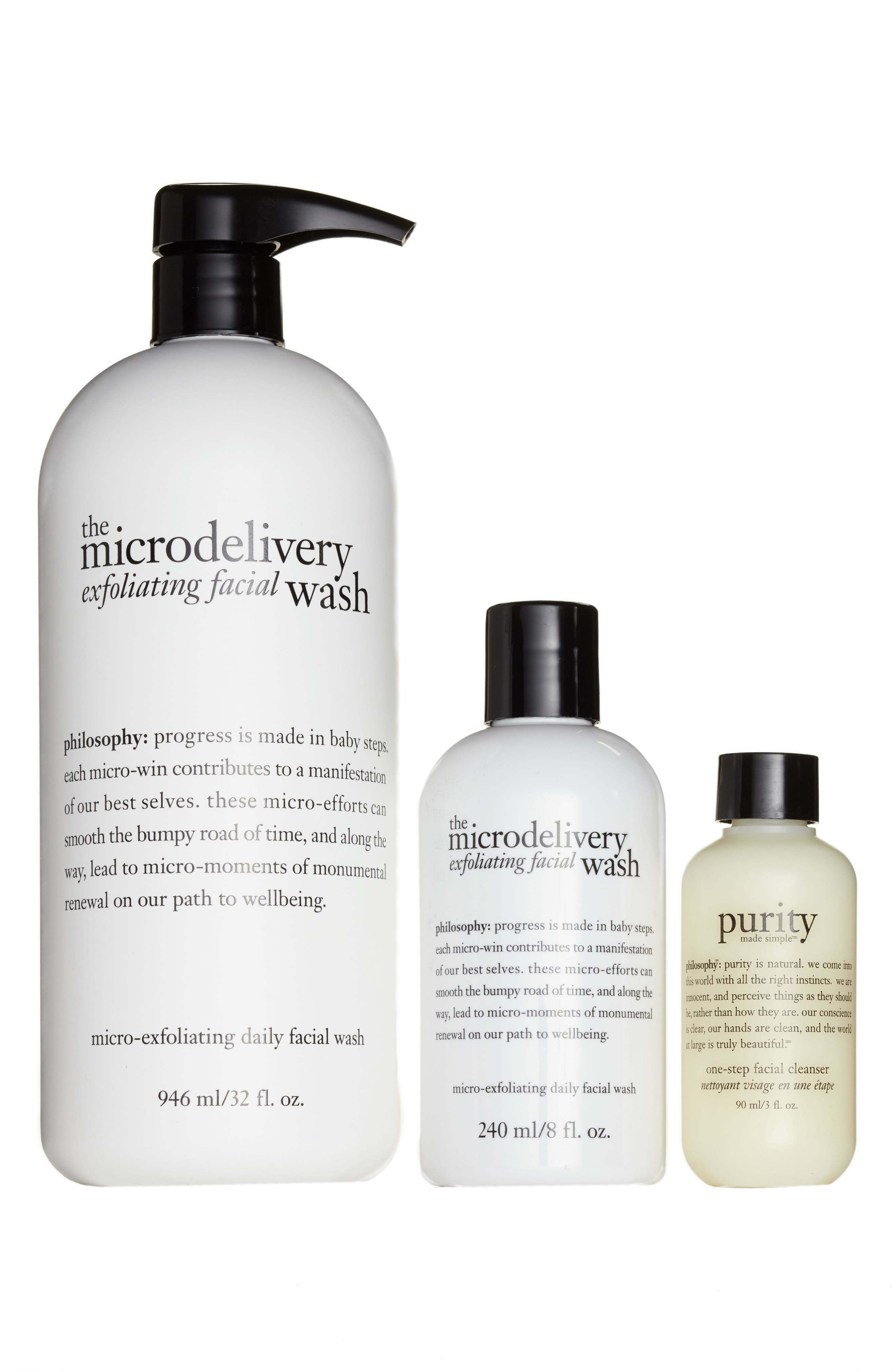 Alternate Image 1 Selected - philosophy exfoliate & cleanse trio (Nordstrom Exclusive) ($99 Value)