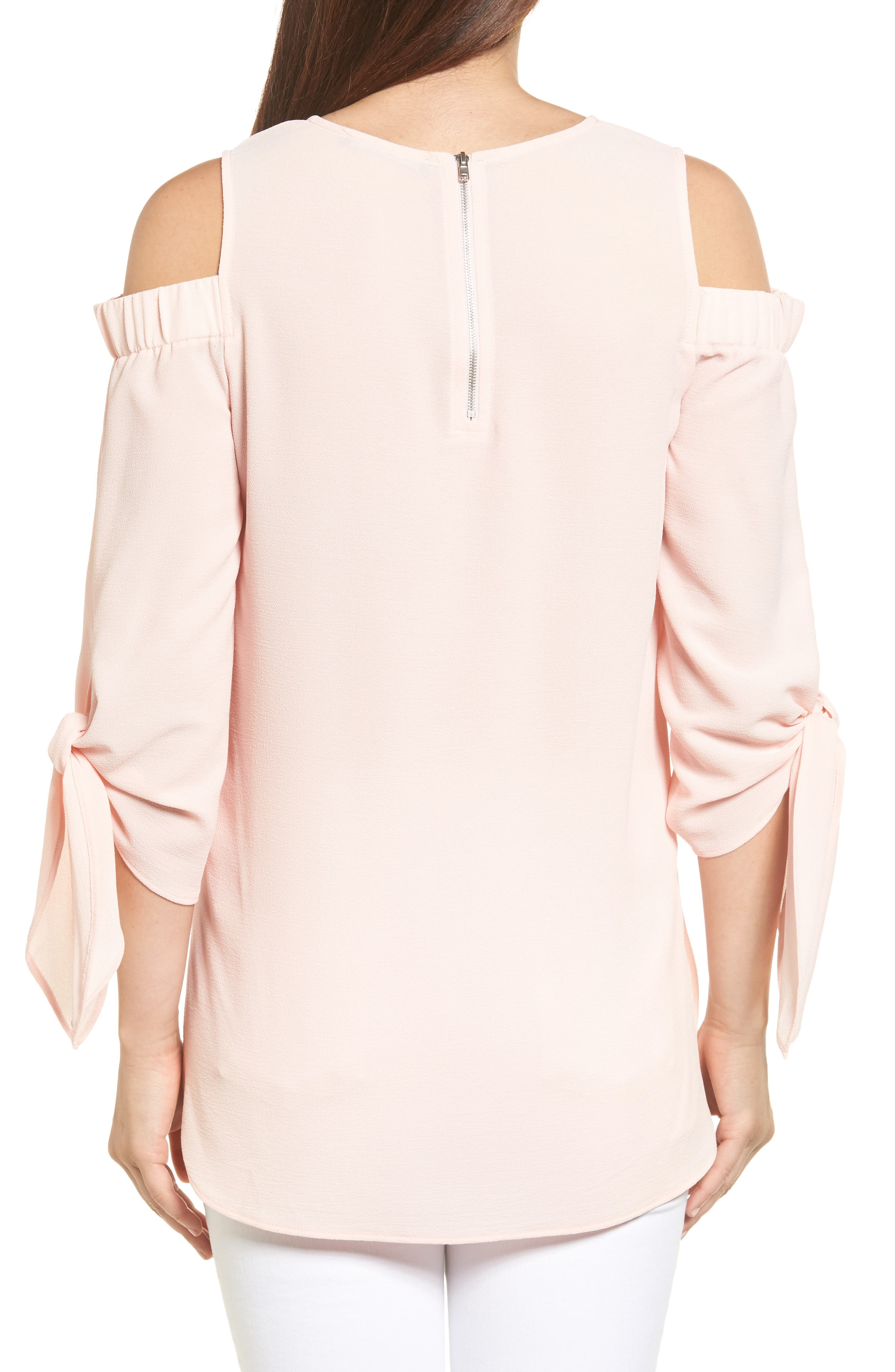 Cold Shoulder Top,                             Alternate thumbnail 2, color,                             Blush