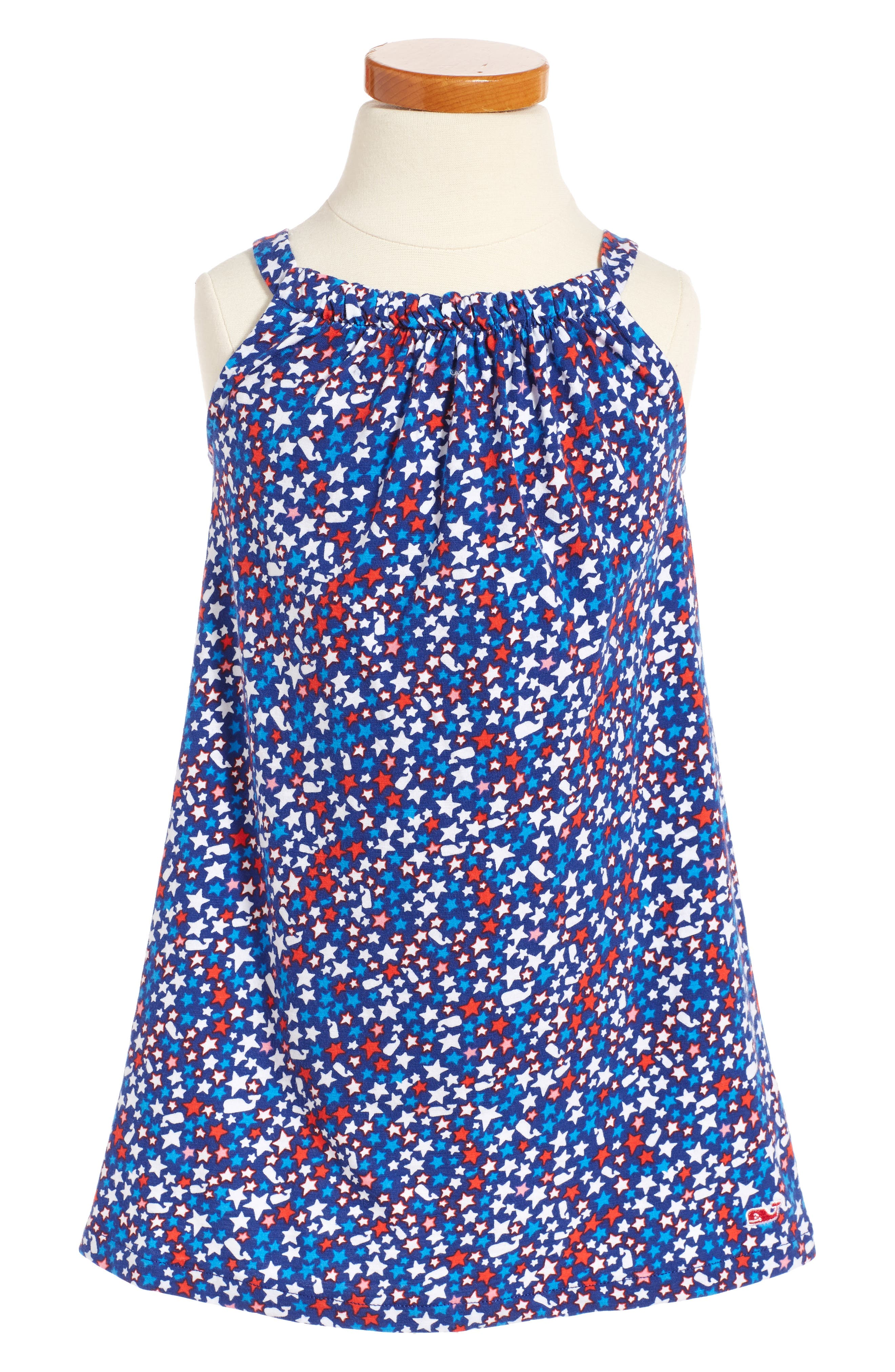 Main Image - Vineyard Vines Stars & Whales Shift Dress (Toddler Girls)