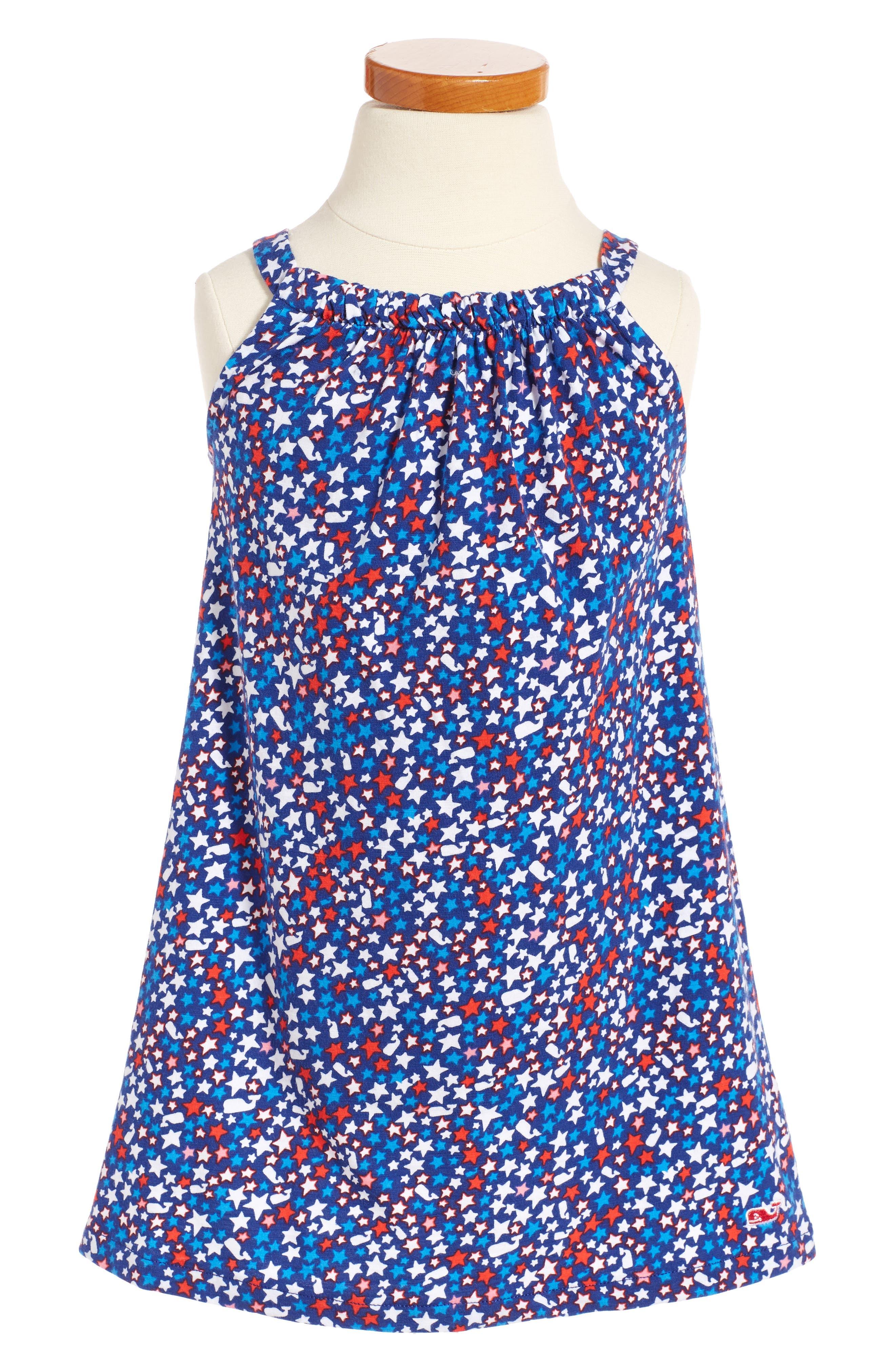 Vineyard Vines Stars & Whales Shift Dress (Toddler Girls)