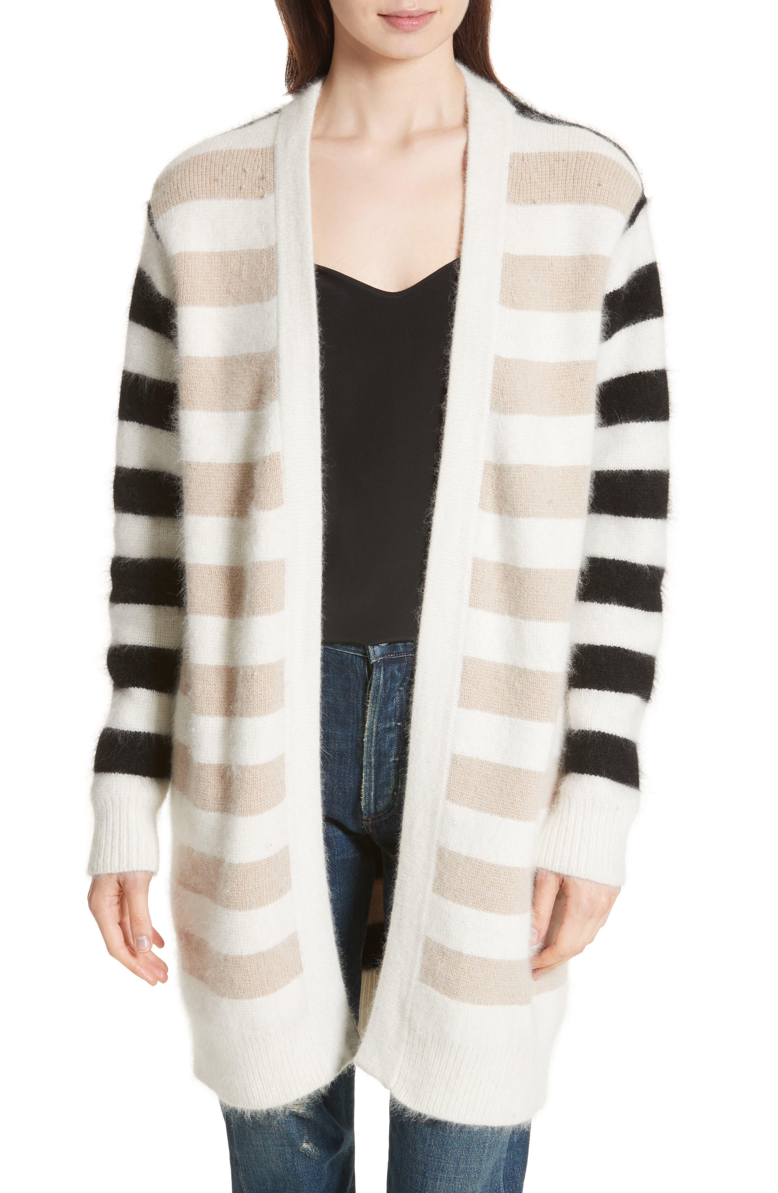 Diane von Furstenberg Stripe Oversize Cardigan