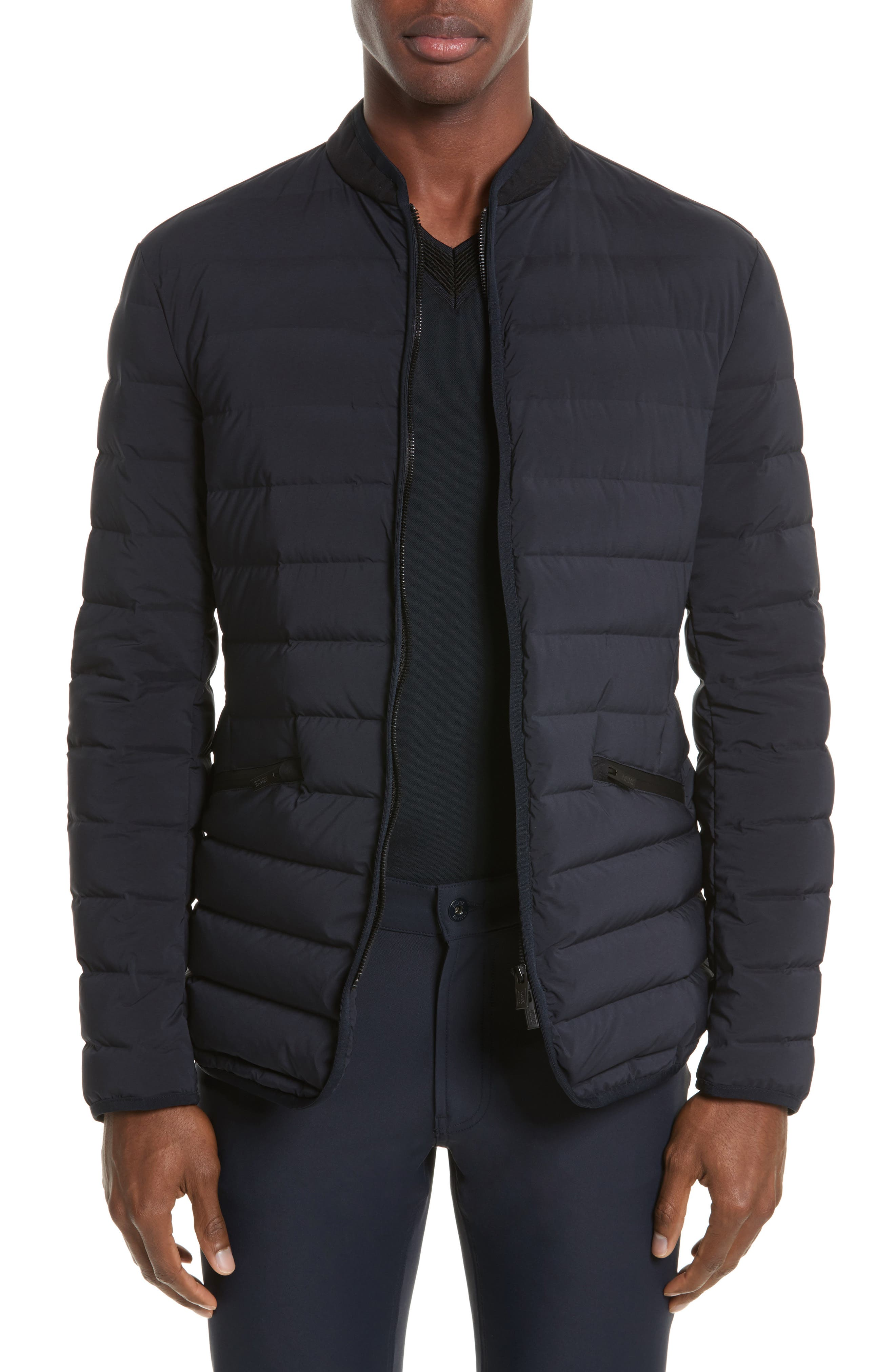 Quilted Down Jacket,                         Main,                         color, Blue