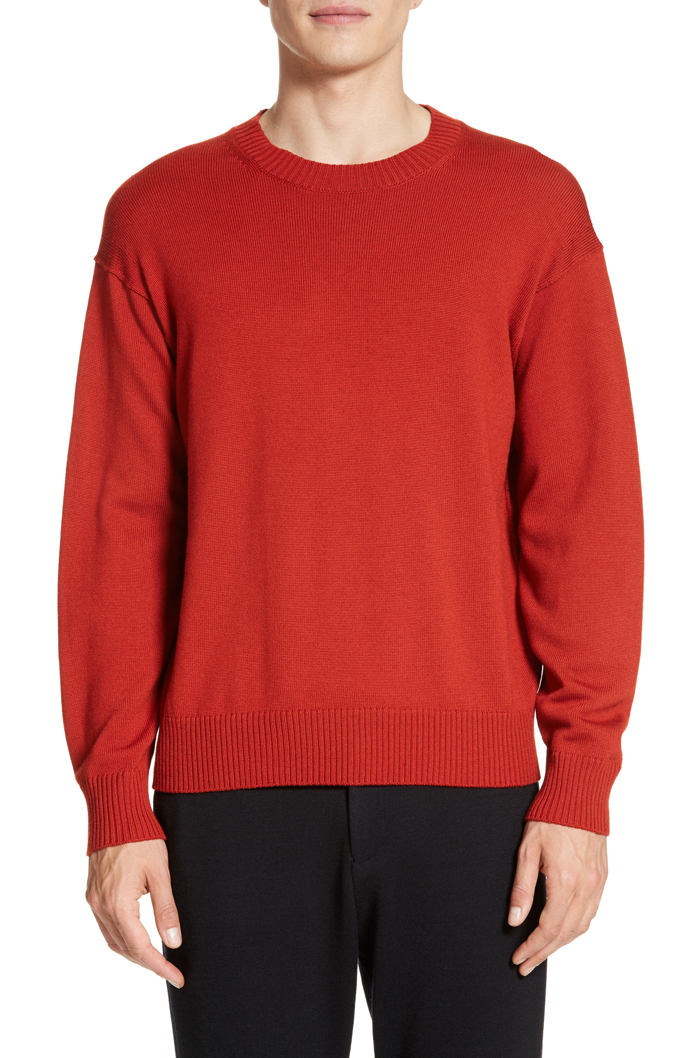 Merino Sweater,                         Main,                         color, Red