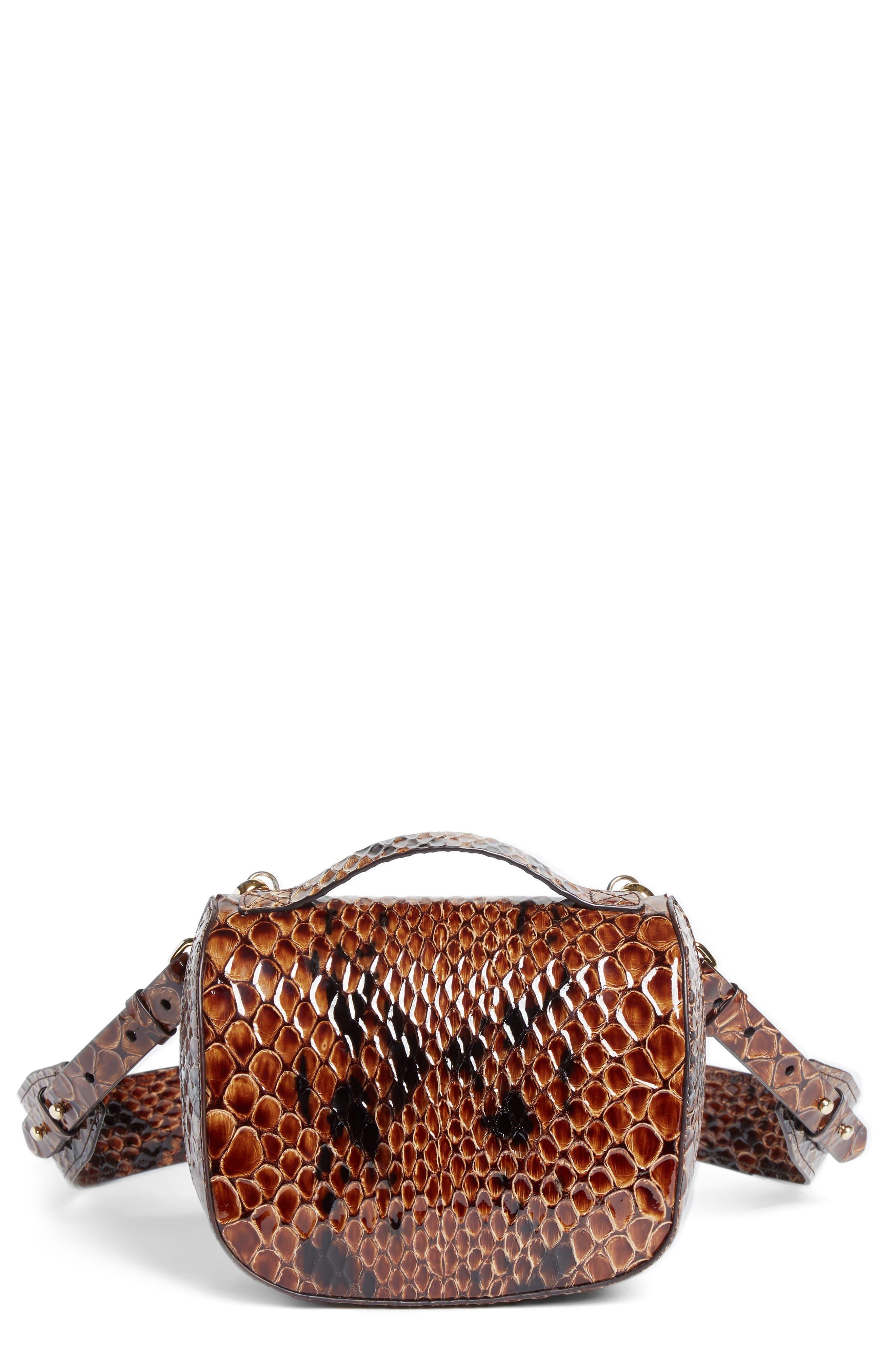 Simone Rocha Small Snake Embossed Leather Box Bag