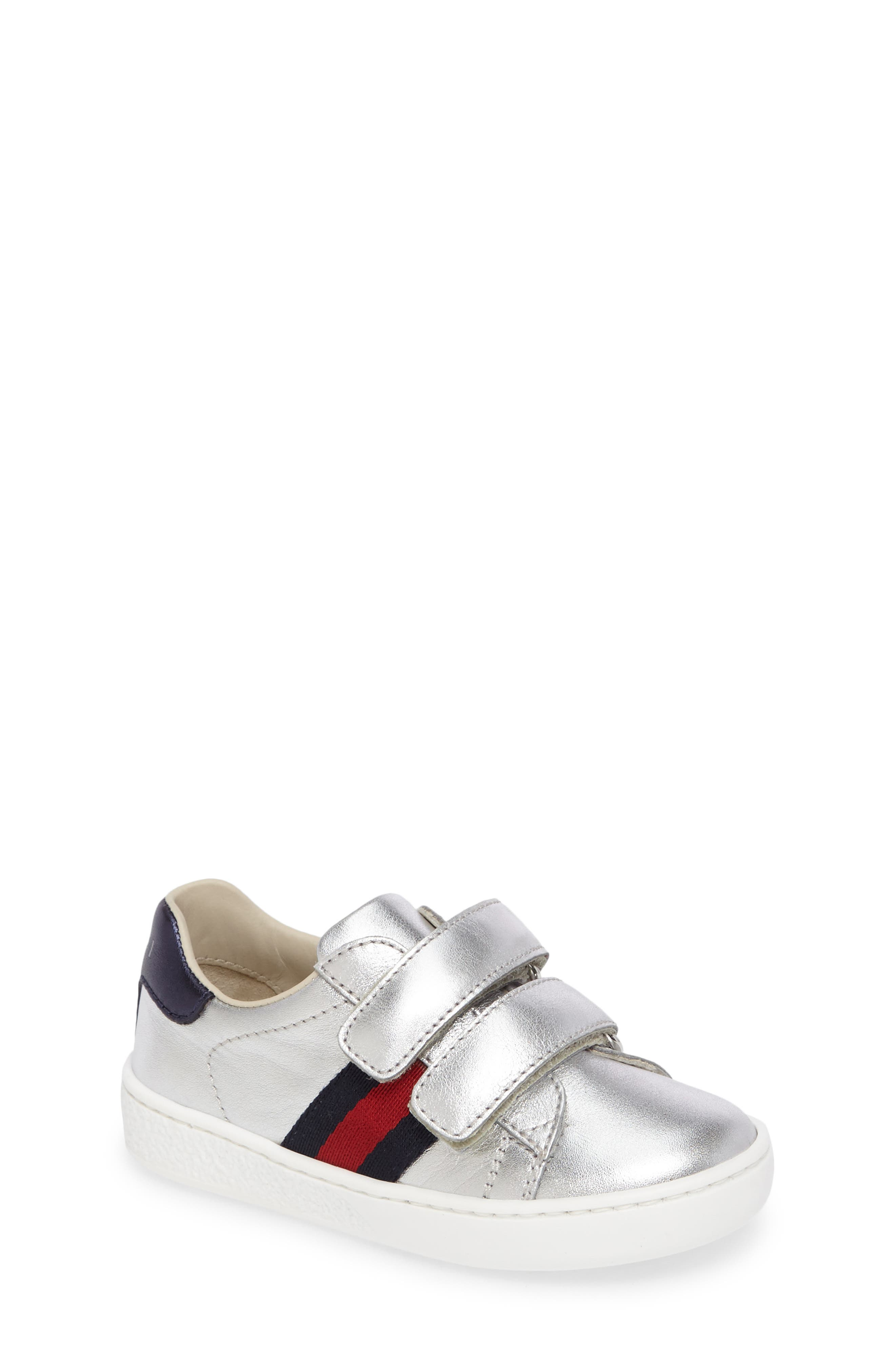 Alternate Image 1 Selected - Gucci New Ace Sneaker (Baby, Walker, Toddler & Little Kid)