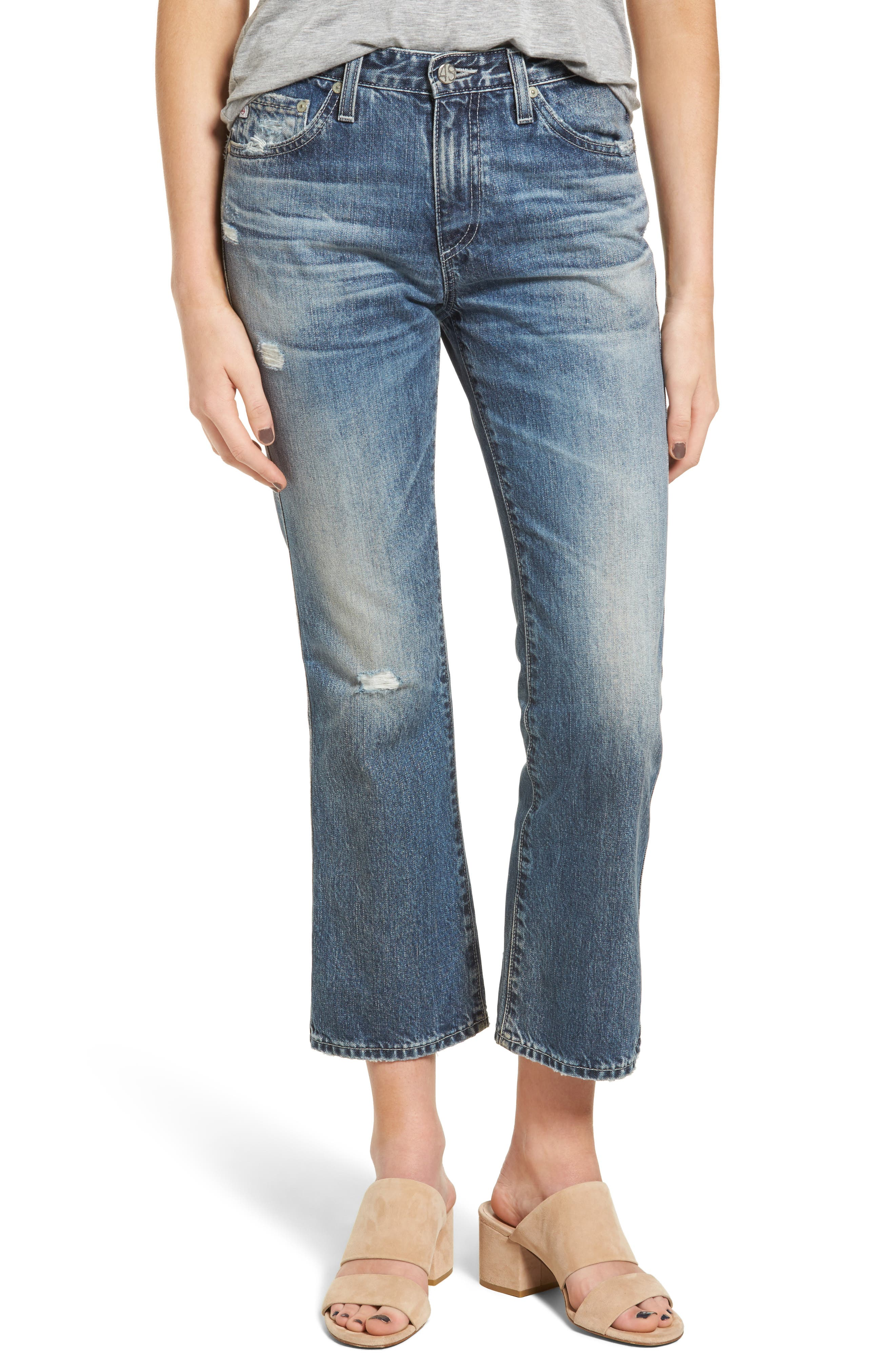 AG The Jodi High Waist Crop Flare Jeans (23 Years Wind Worn)