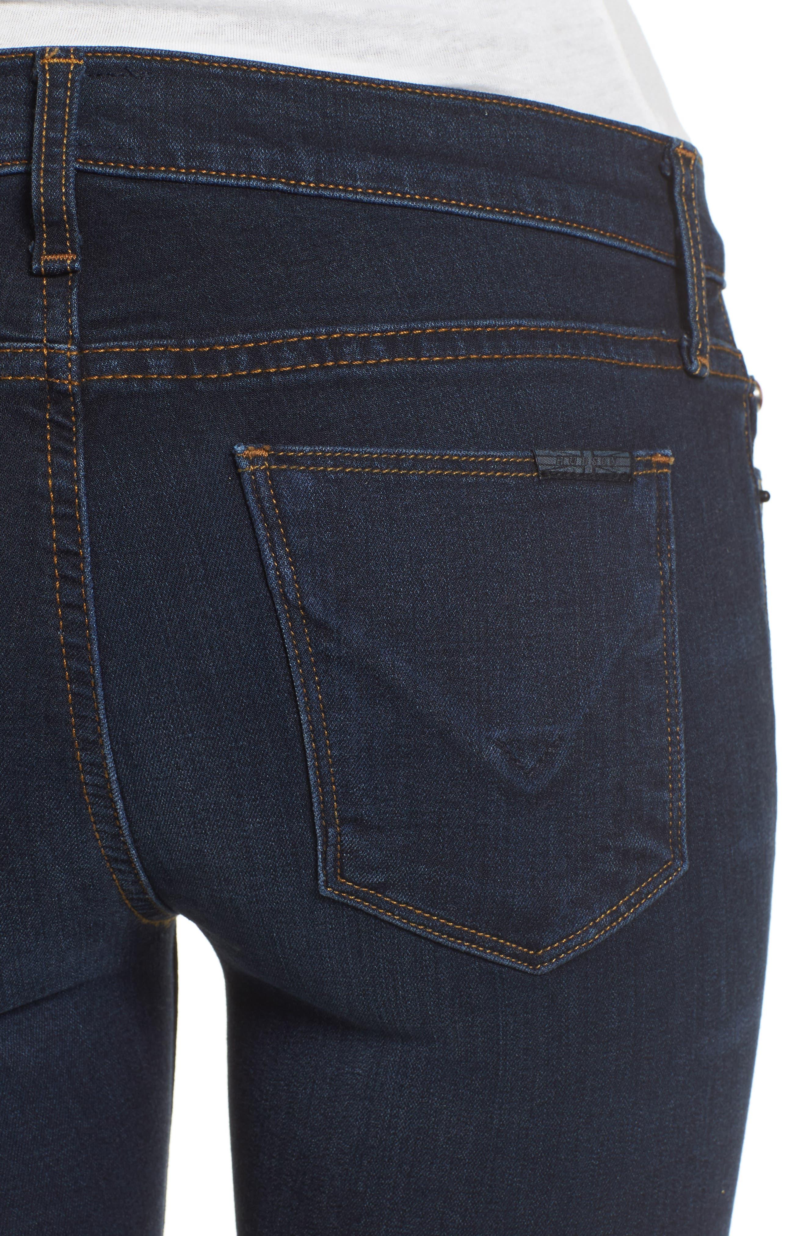 Alternate Image 4  - Hudson Jeans 'Krista' Super Skinny Jeans (Skylark)