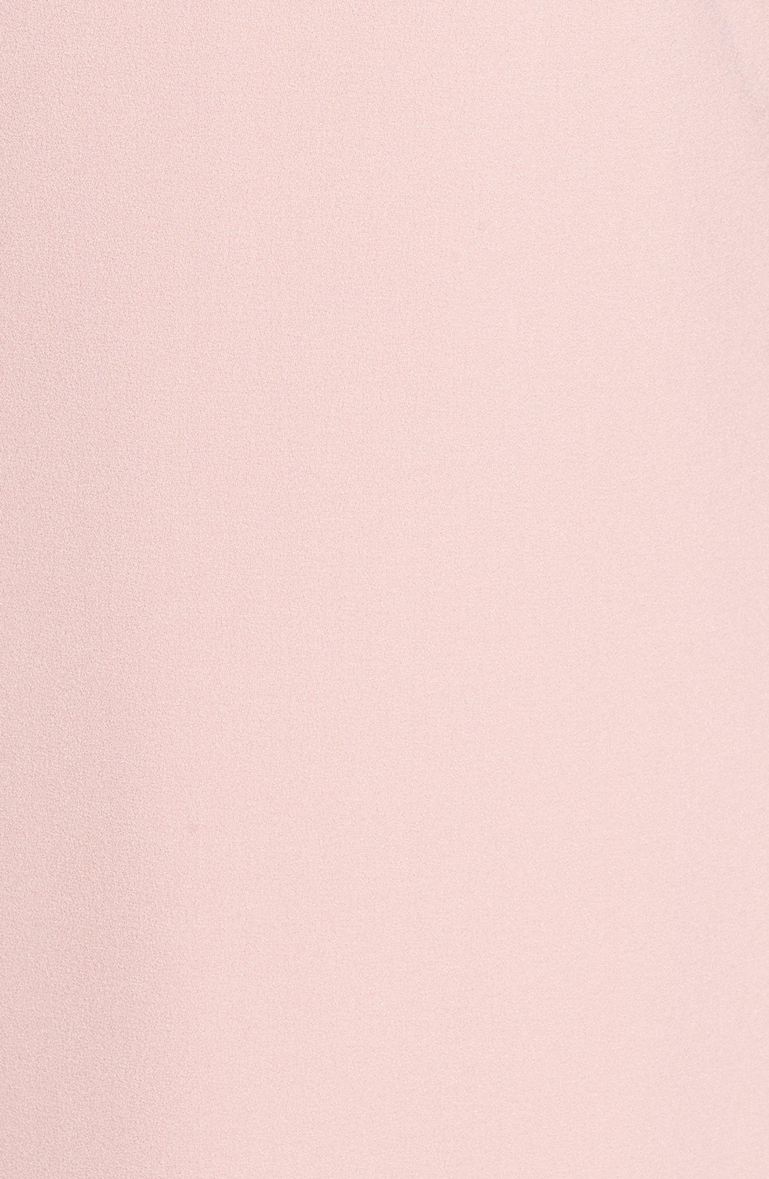 Bell Sleeve Crepe Shift Dress,                             Alternate thumbnail 5, color,                             Blush