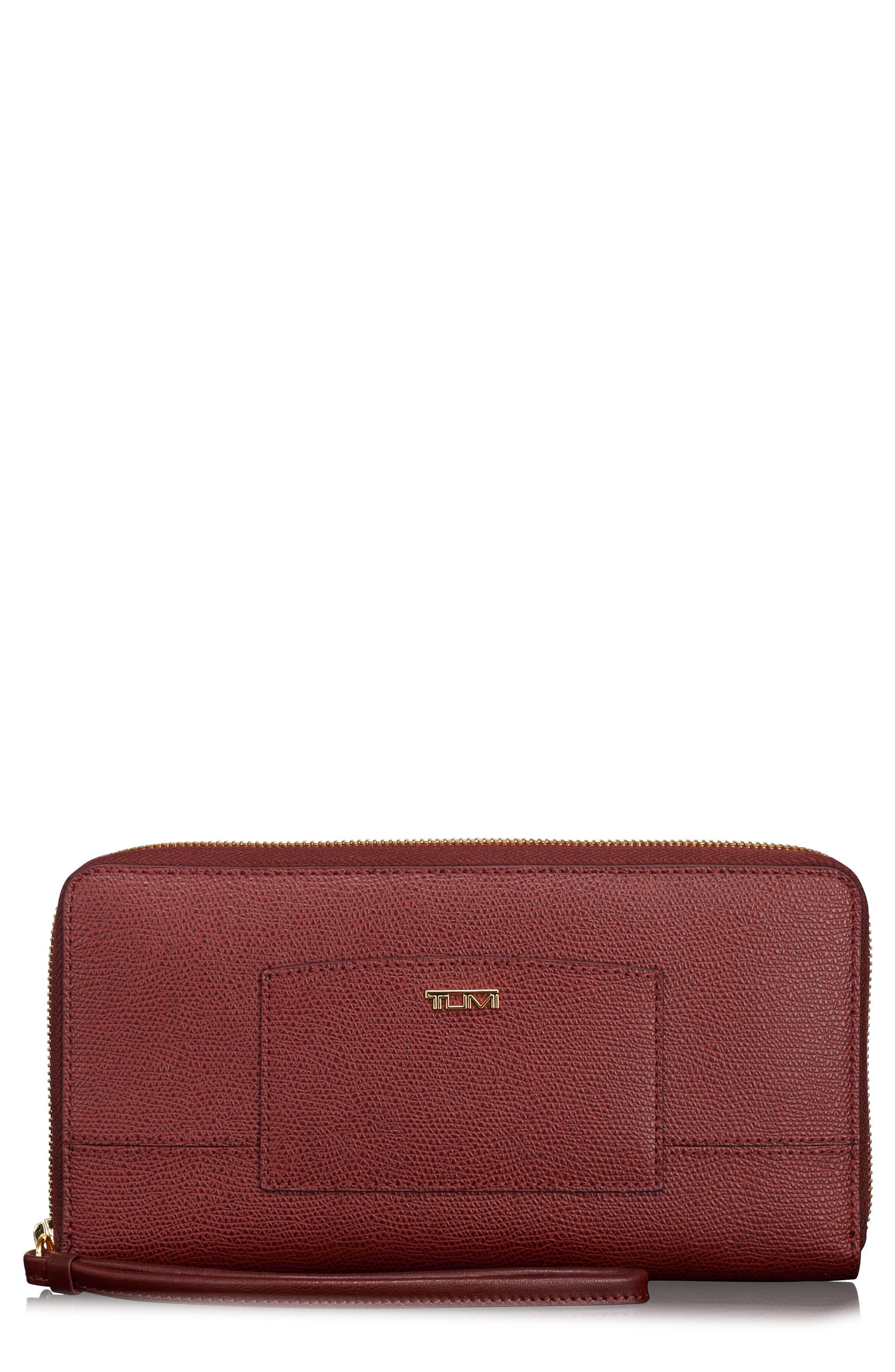 Travel Wallet,                         Main,                         color, Burgundy